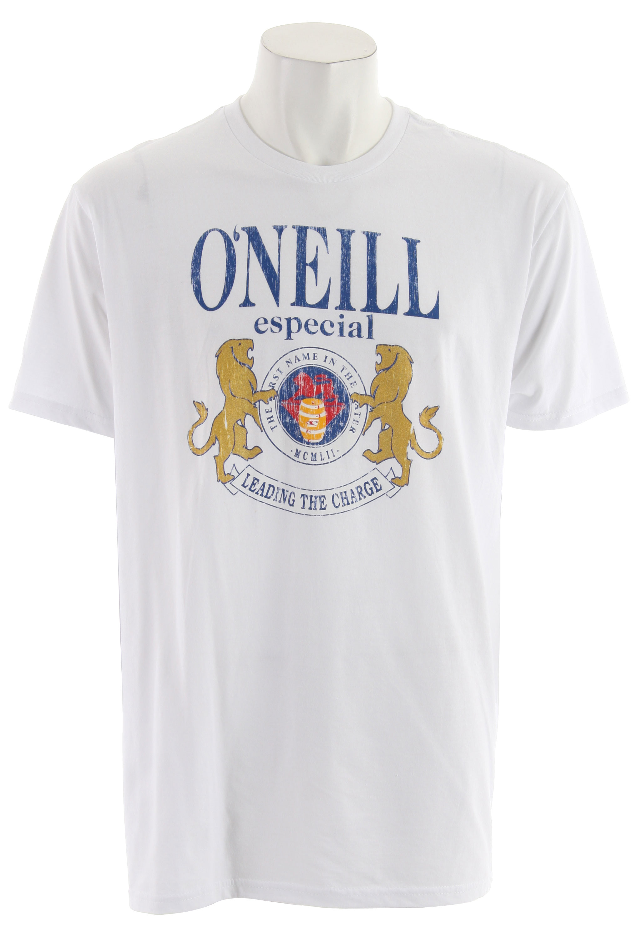 Surf Key Features of The O'Neill Cinco T-Shirt: Slim Fit Crew Neck Short Sleeve 100% ringspun cotton Prewashed with soft hand screenprint - $19.95