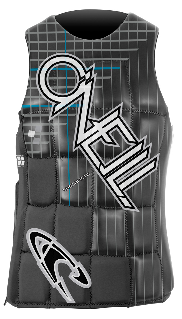 Wake With the segmented foam core and O'Neill's pullover design featuring a short side zip with barrier, the checkmate is one of O'Neill's most innovative vest designs to date.Key Features of the O'Neill Checkmate Comp Wakeboard Vest: Wind Resistant Glideskin lightweight Fluid Foam Pull Over Design with Short Zip - $111.95