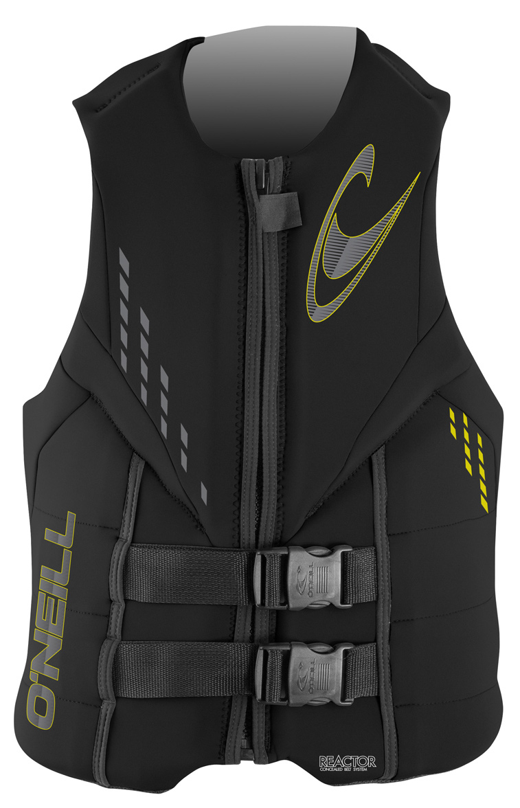 Wake O'Neill vests are developed and tested by the best athletes in the water. The O'Neill 2012 vest lineup defies convention, sets a new industry standard, and leads the way for those who can only follow. For spring 2012, O'Neill's vests feature their internal belt design which helps to keep the straps tucked in and away from your limbs. With integrated lumbar support pads, segmented foam core and anatomical flex points.    Key Features of the O'Neill Reactor 3 USCG Wakeboard Vest:  Closed Cell PVC Marine Foam  Lumbar Support  Soft and Comfortable  Quick-Release Delrin Buckles - $55.95