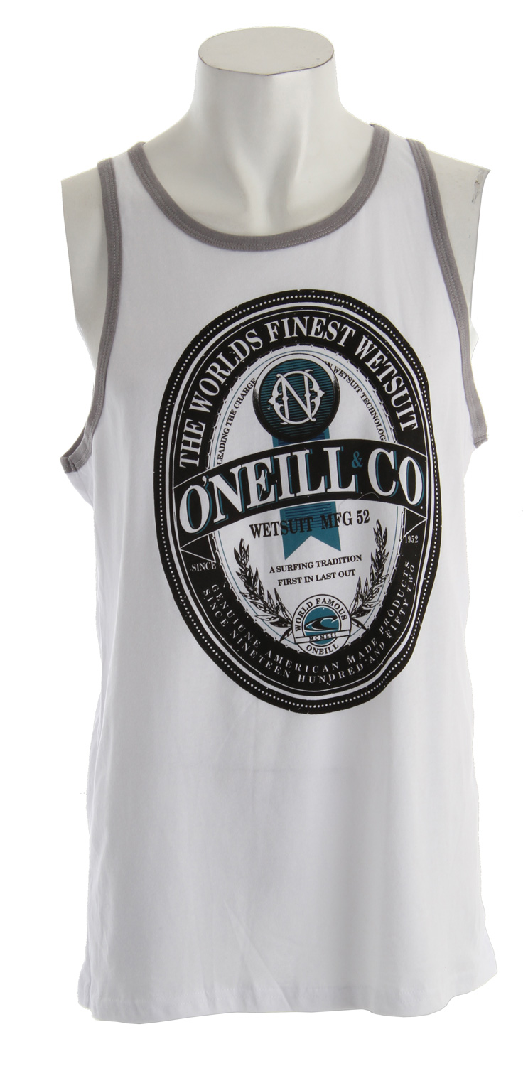 Surf Key Features of the O'Neill Tanked Tank: 90% cotton/10% polyester 30 singles Softhand screenprint - $16.95