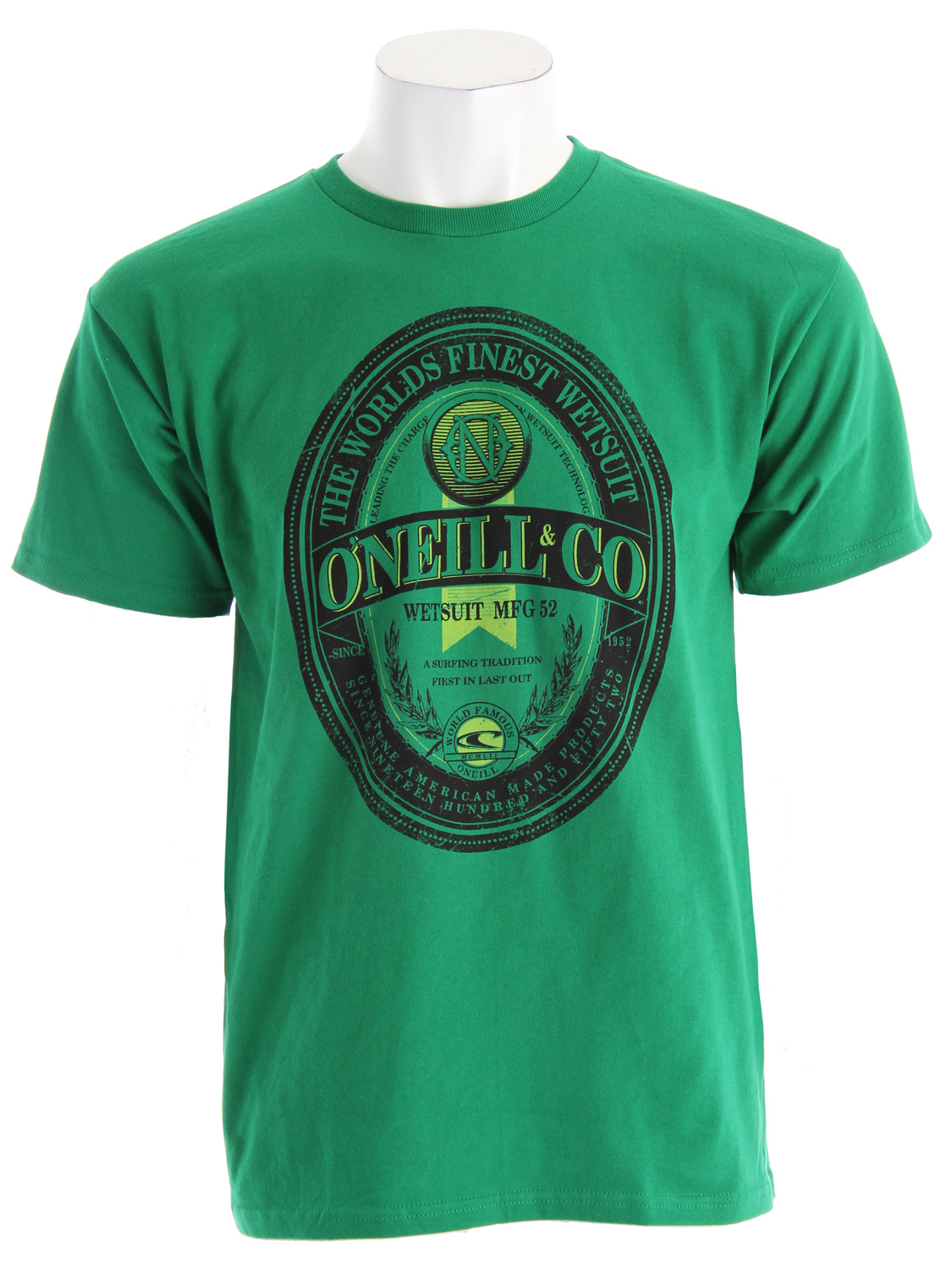 Surf While rockin' a name like O'Neill, the average Joe might find he is feeling a little Irish. Get luck with the O'Neill Tanked T-ShirtKey Features of The O'Neill Tanked T-Shirt: Regular Fit Tank Top Short Sleeve 100% ringspun cotton  basic fit tee Softhand screenprint - $13.95