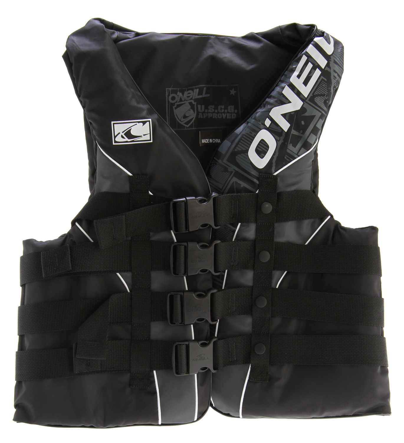 Wake Key Features of the O'Neill Superlite USCG Wakeboard Vest: USCG Approved ULC Approved CE Approved (EN393 Standard) Closed Cell PVC Marine Foam Coated Nylon Shell Soft and Comfortable Quick-Release Delrin Buckles - $29.95