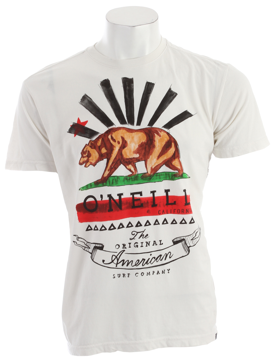 Surf Key Features of the O'Neill Grizzly T-Shirt: 100% Ringspun Cotton 30 Singles modern fit Garment dyed tee Softhand screenprint attached hem label - $13.95