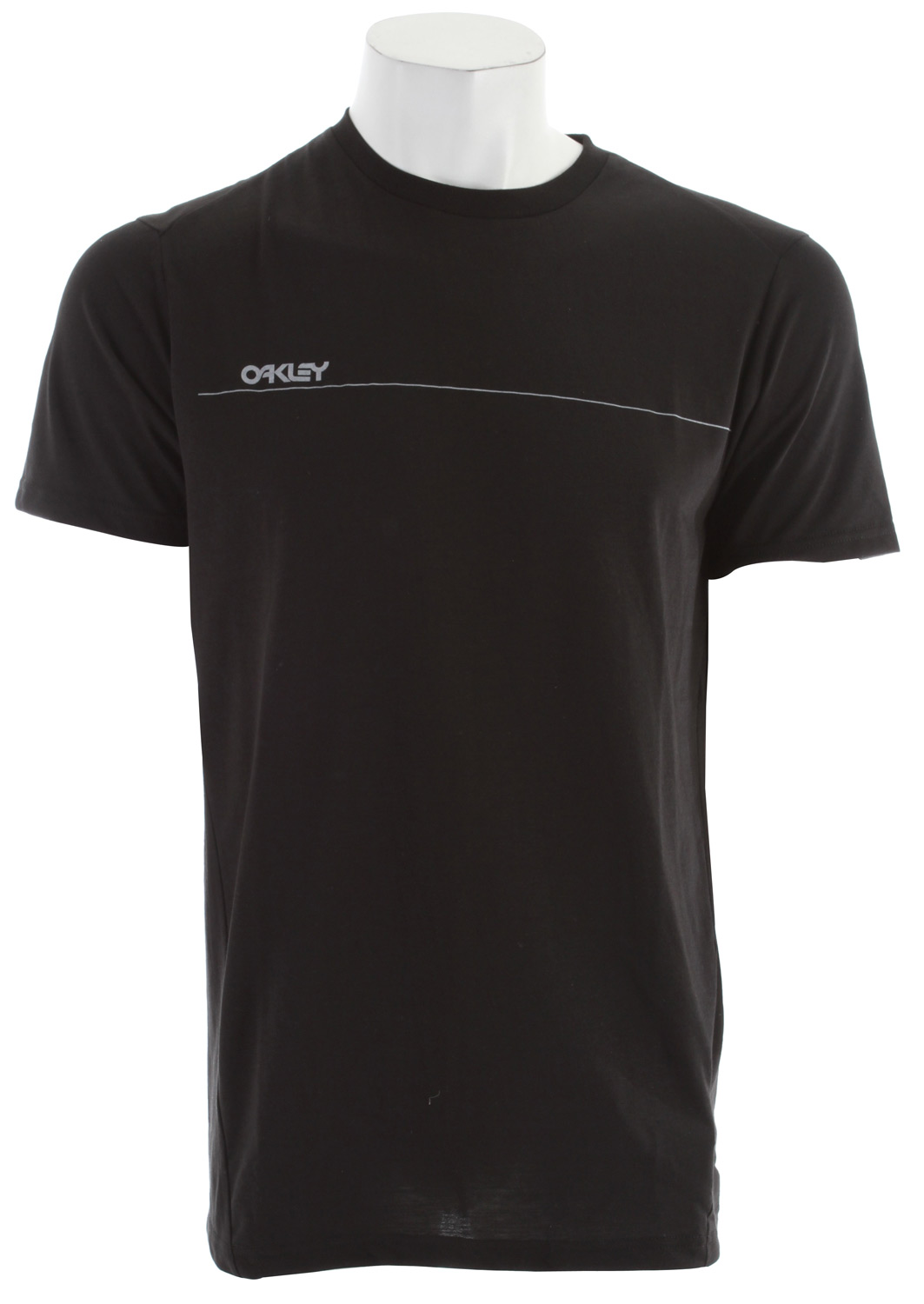 Key Features of The Oakley Unreal T-Shirt: Regular Fit Crew Neck Short Sleeve Hydrolix tee with front screen print. 85% polyester, 15% cotton - $15.95