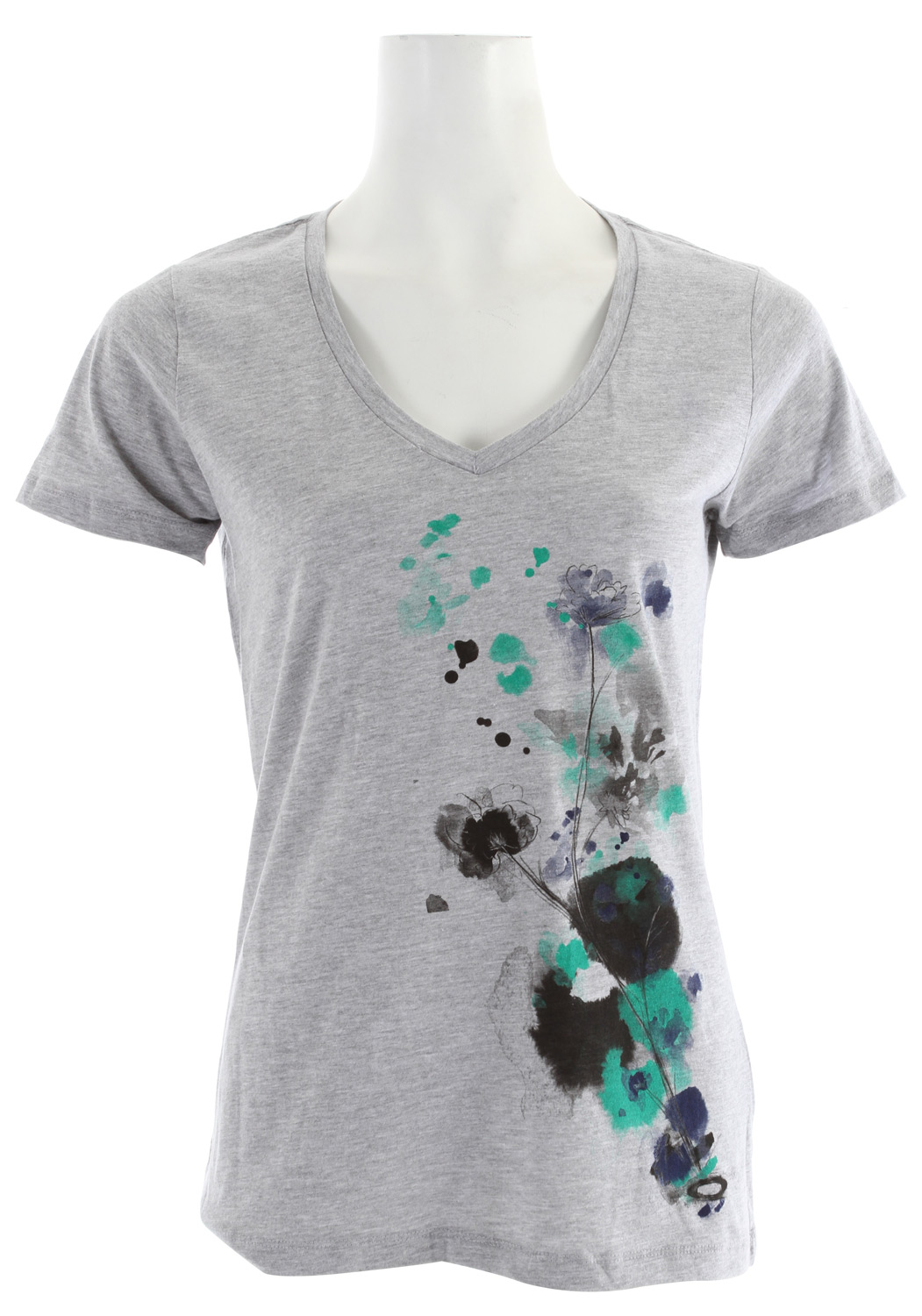 "Key Features of The Oakley Watercolor T-Shirt: Regular Fit Crew Neck Short Sleeve Short sleeve v-neck graphic with 3-color screen print graphic 26.5"" hps 100% Cotton - $16.95"