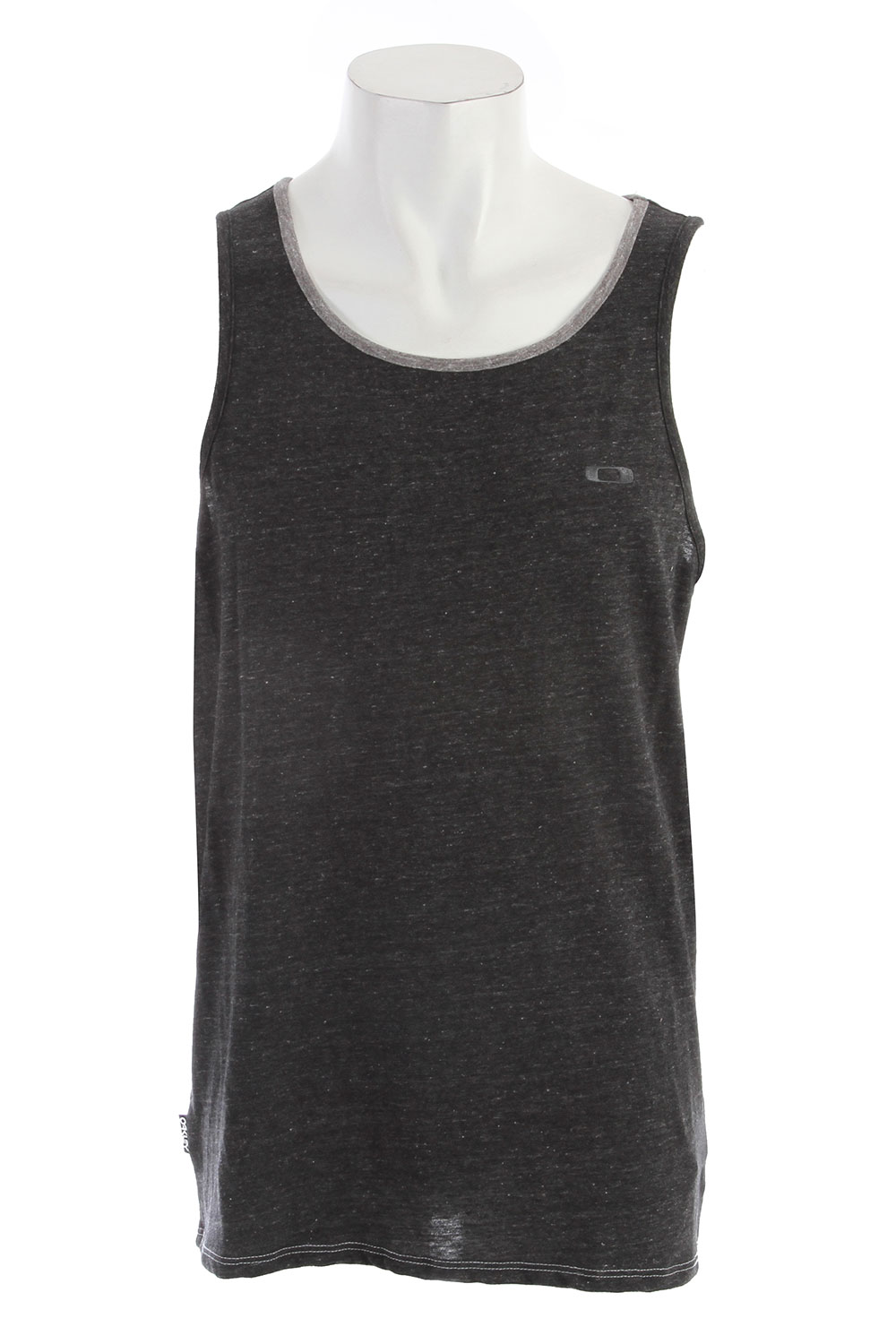 Surf Tri-blend tank top with contrast self binding at sleeves and neck, front logo embroidery and side flagKey Features of the Oakley Maldives Tank: 50% cotton 37% polyester 13% rayon - $17.95