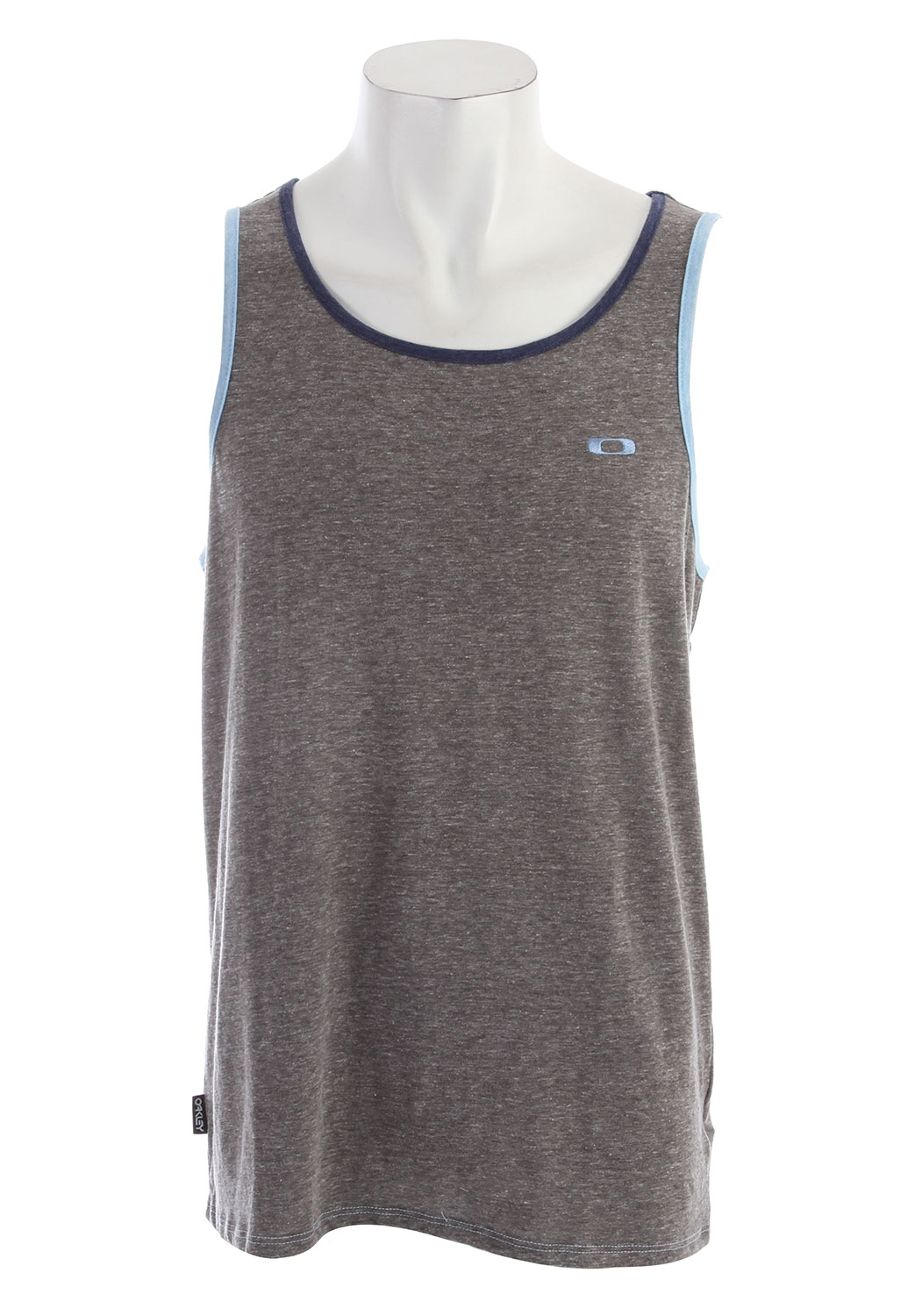 Surf Tri-blend tank top with contrast self binding at sleeves and neck, front logo embroidery and side flagKey Features of the Oakley Maldives Tank: 50% cotton 37% polyester 13% rayon - $25.00