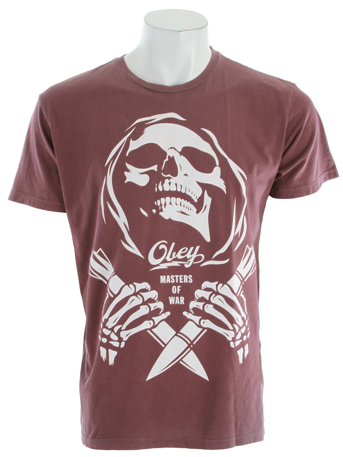 Key Features of The Obey Masters Of War T-Shirt: Slim Fit Crew Neck Short Sleeve Lightweight, with inset crew neck and pigment dye for a smooth hand 100% Cotton - $28.95