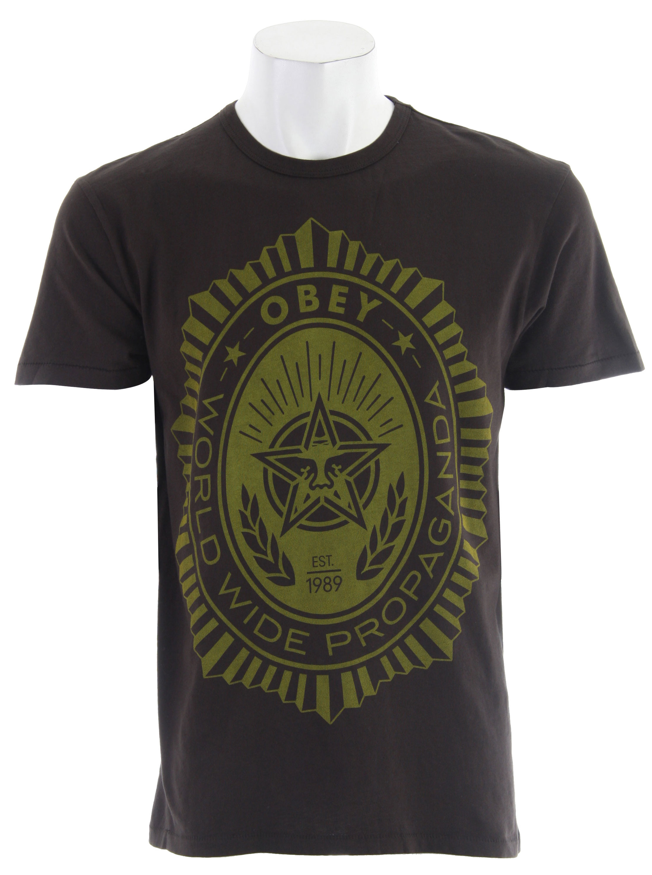 Key Features of The Obey Legion T-Shirt: Regular Fit Crew Neck Short Sleeve - $24.95