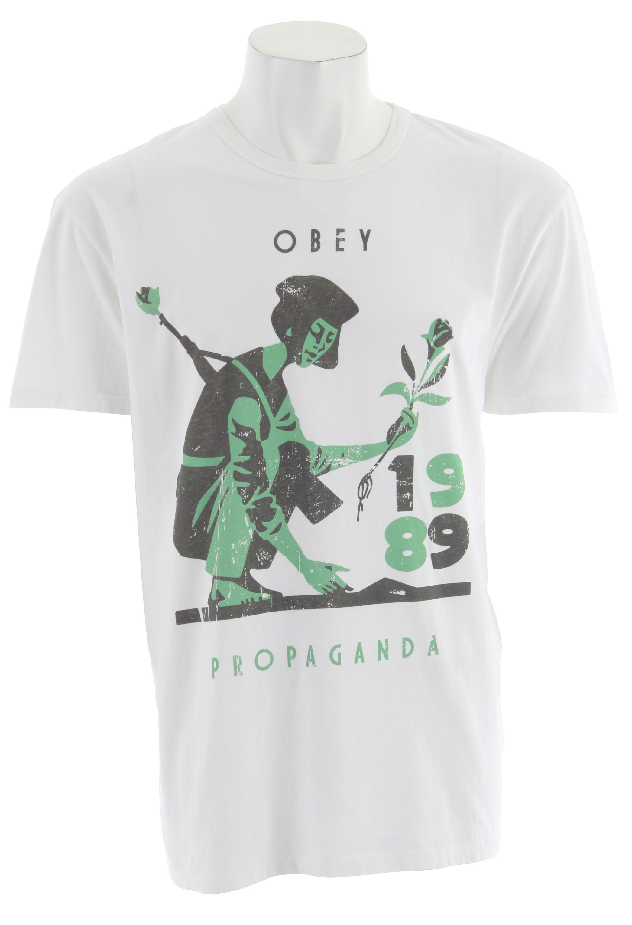 Key Features of The Obey Vietnam Girl T-Shirt: Regular Fit Crew Neck Short Sleeve - $25.95