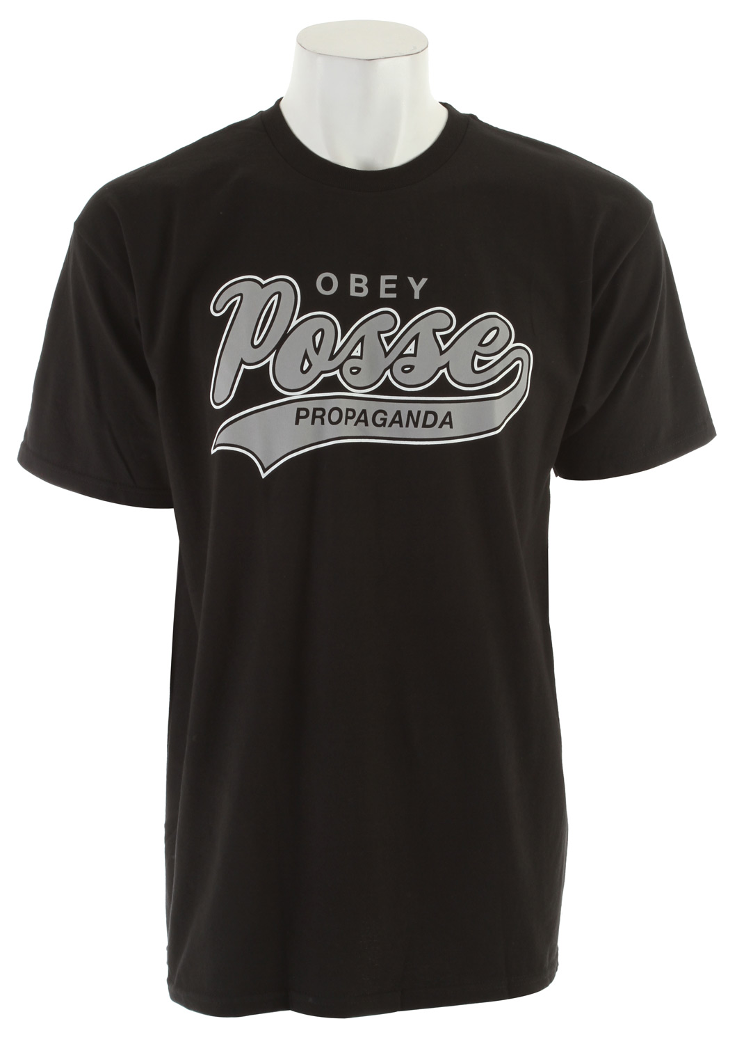 Key Features of the Obey Posse Script 2 Basic T-Shirt: Heavyweight, regular fit tee Rib crew neck 100% cotton - $15.95