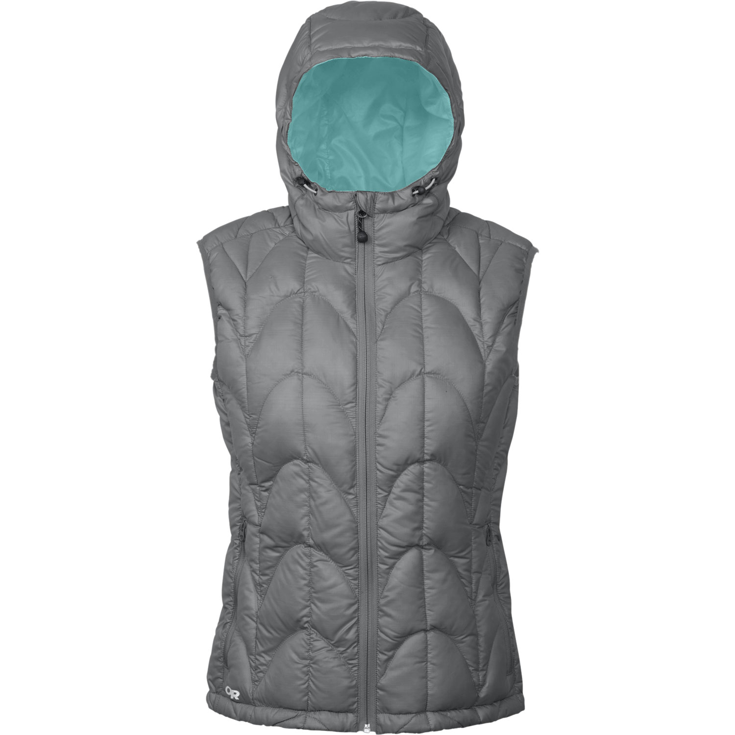 "When a down jacket is overkill, turn to this ultralight, ultra-packable vest for warmth in the backcountryKey Features of the Outdoor Research Aria Vest: 20D, 100% polyester ripstop shell 650+ fill down insulation Ultralight shell Adjustable hood Internal front zip stormflap Multiple pockets: handwarmer, internal Elastic cuffs Drawcord hem Stuff sack included (M) 9.7 oz. / 274 g STANDARD FIT CENTER BACK LENGTH: 26"" / 65 cm - $160.00"