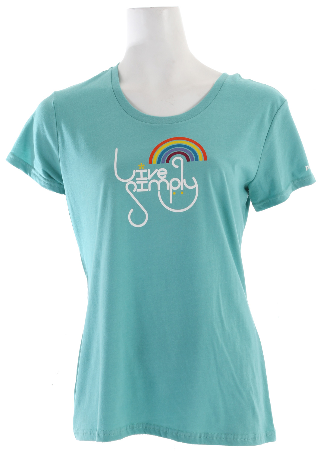 Somewhere over the rainbow, you can live simply. Original art by Blaine Fontana on a 100% organic cotton T-shirt. fabric: 4-oz 100% organic cottonKey Features of the Patagonia Live Simply Rainbow T-Shirt: Screen-print inks are PVC- and phthalate-free Taped shoulder seams for comfort Super soft, 40 singles 100% organic cotton jersey Anika fit - $24.95