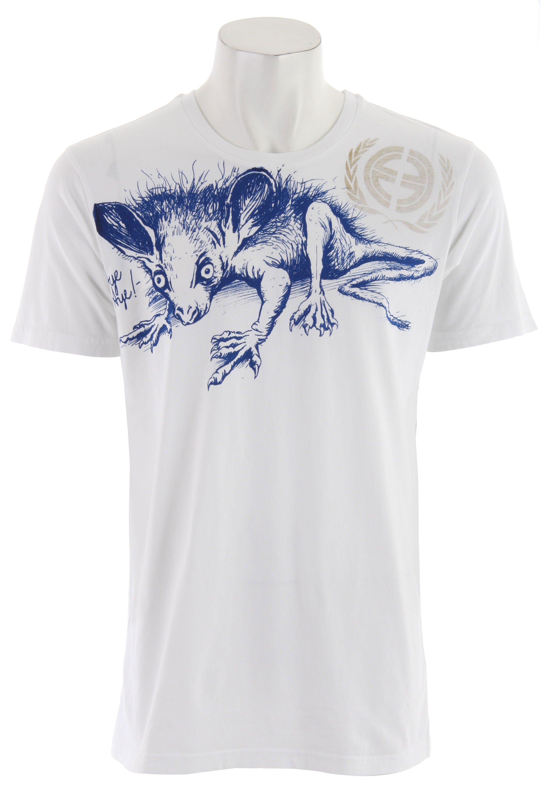 The Aye-Aye is a lemur native to Madagascar with a long, thin middle finger that it uses to pull grubs from trees. The Aye-Aye is an endangered species, partly due to superstition as ancient legend said it was a symbol of death. We mostly think it's fun. Enjoy the Aye-Aye!All tees are 51% organic cotton blended with 49% virgin cotton and embellished with formaldehyde-free inks and dyes for an environmentally friendly finished product. - $7.95