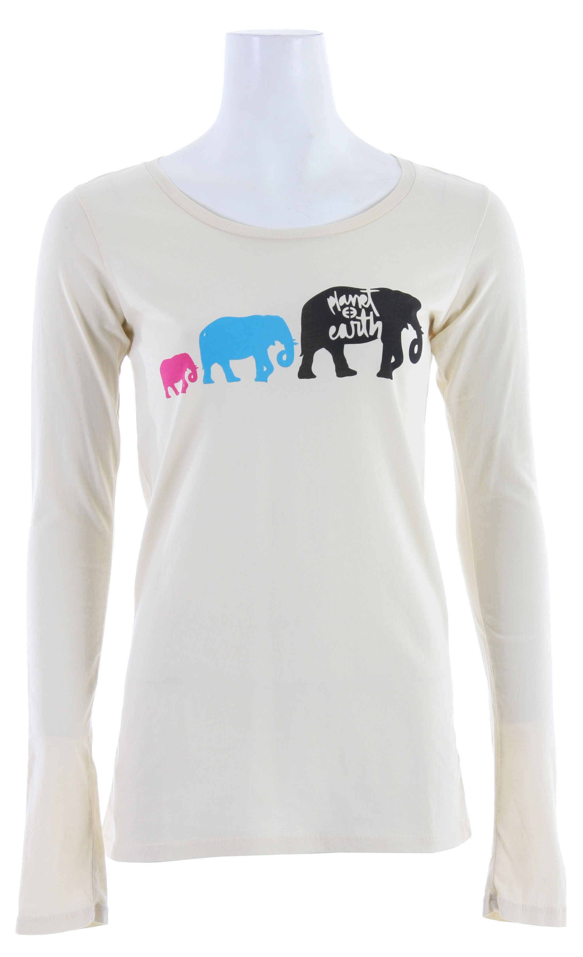 The Planet Earth Elie L/S T-Shirts are 51% organic cotton blended with 49% virgin cotton and embellished with formaldehyde-free inks and dyes for an environmentally friendly finished product. - $14.25