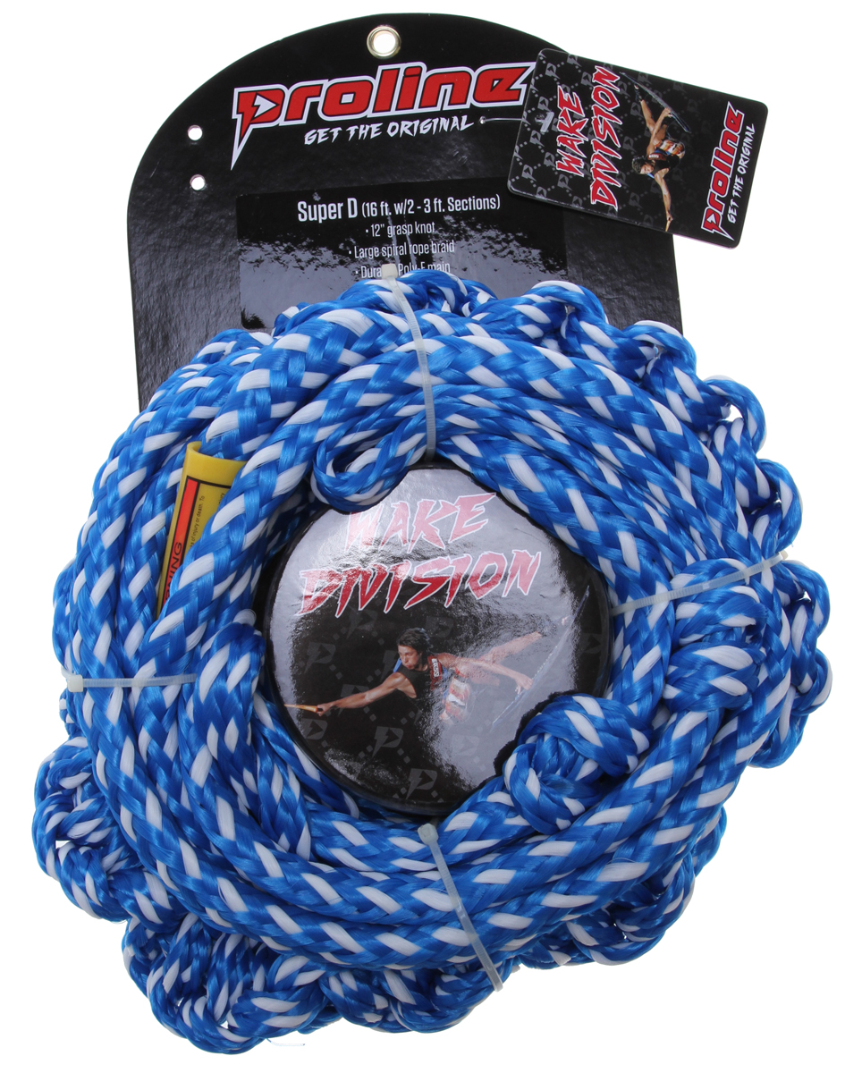 Wake Proline Super D 10' Braided Tail w/ 2 Section Mainline Blue 16Ft - $28.95