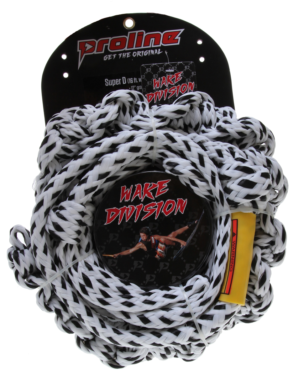 Wake Proline Super D 10' Braided Tail w/ 2 Section Mainline White 16Ft - $28.95