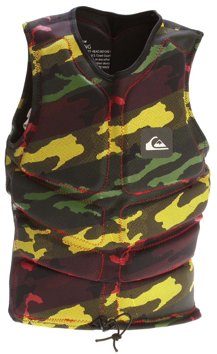 Wake Key Features of the Quiksilver Identity Vest: Non approved wake vest Hyperstretch, zipper free pull over design with segmented foam core Elastic waist cord with toggle and boardshort connector loop - $74.95