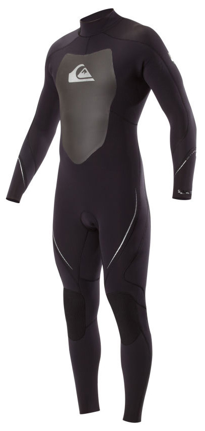 Surf Key Features of the Quiksilver Syncro 3/2 Back Zip Flatlock Wetsuit: 100% hyperstretch II neoprene Vaporstretch mesh chest panel Hydro wrap adjustable neck closure Flatlock seams YKK standard length back zip Ecto flex knee pads - $114.95