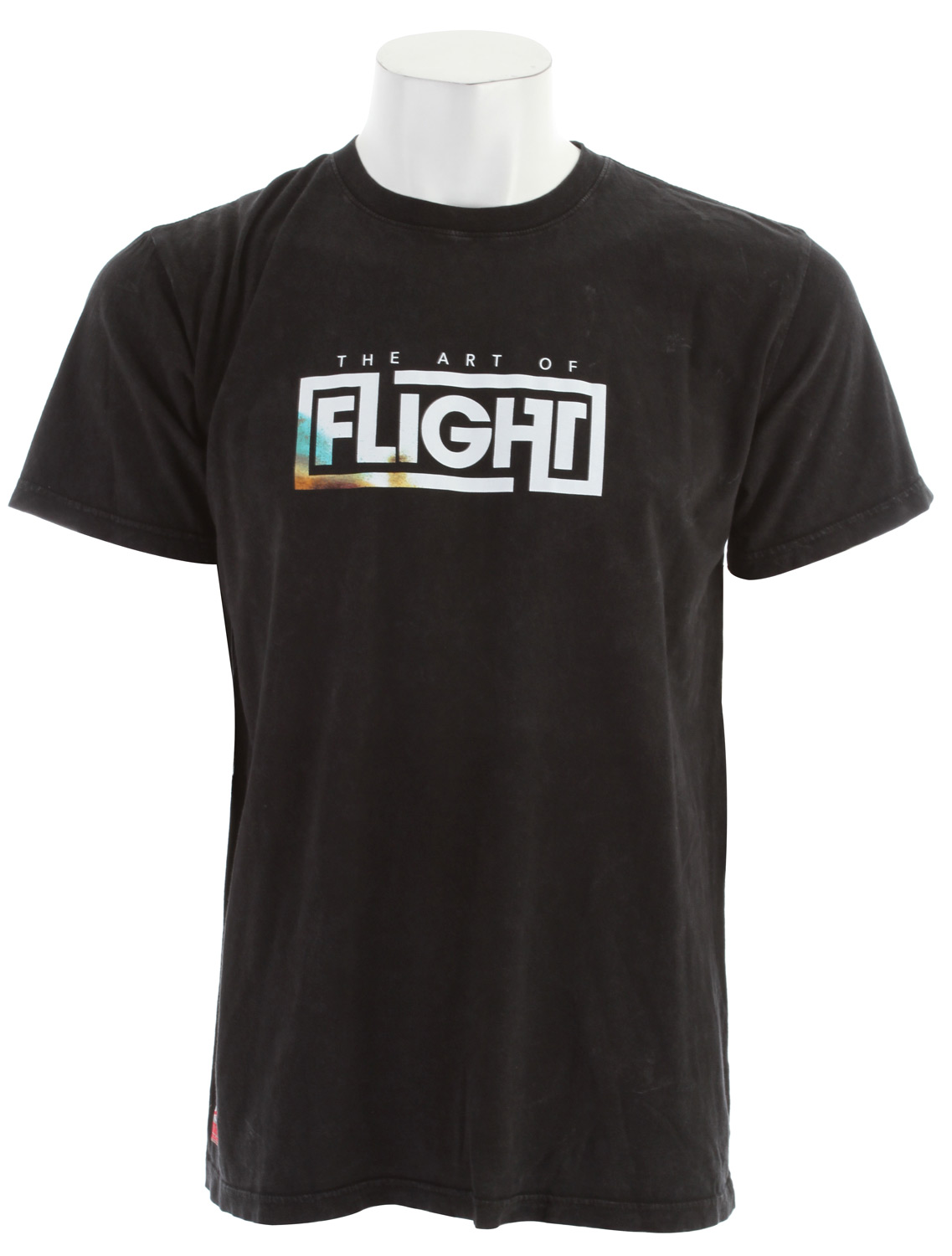 Surf Key Features of The Quiksilver Art Of Flight Dark T-Shirt: Regular Fit Crew Neck Short Sleeve - $24.95