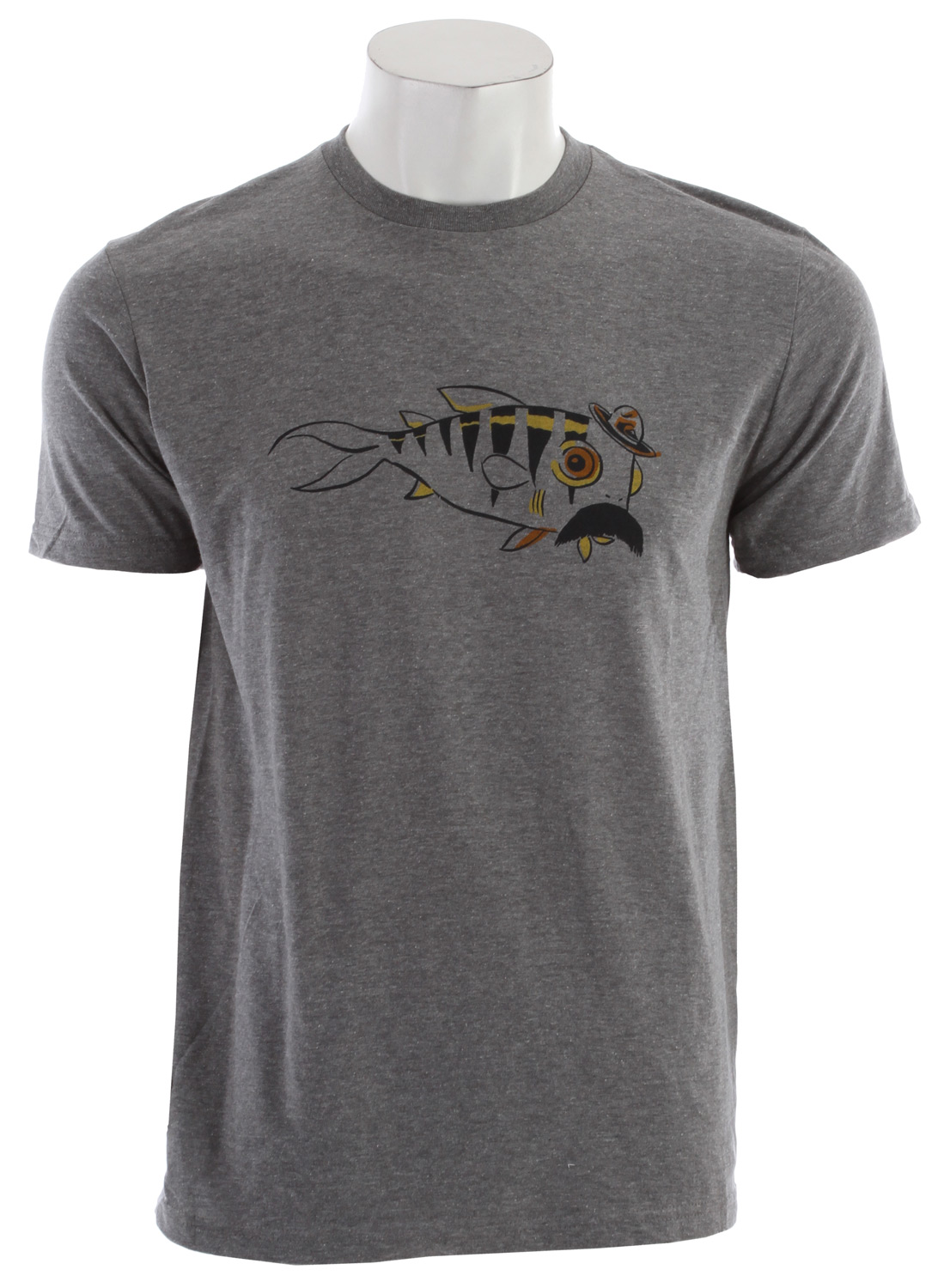 Fitness Fish can't ride a bike. But they can grow a moustache, wear a hat and look pretty chill on a Whiskers classic tee.Key Features of the Quiksilver Whiskers T-Shirt: 22 singles ringspun jersey, regular fit SOLIDS: 100% cotton. HEATHERS: 50% cotton / 50% polyester Machine wash, imported. - $13.95