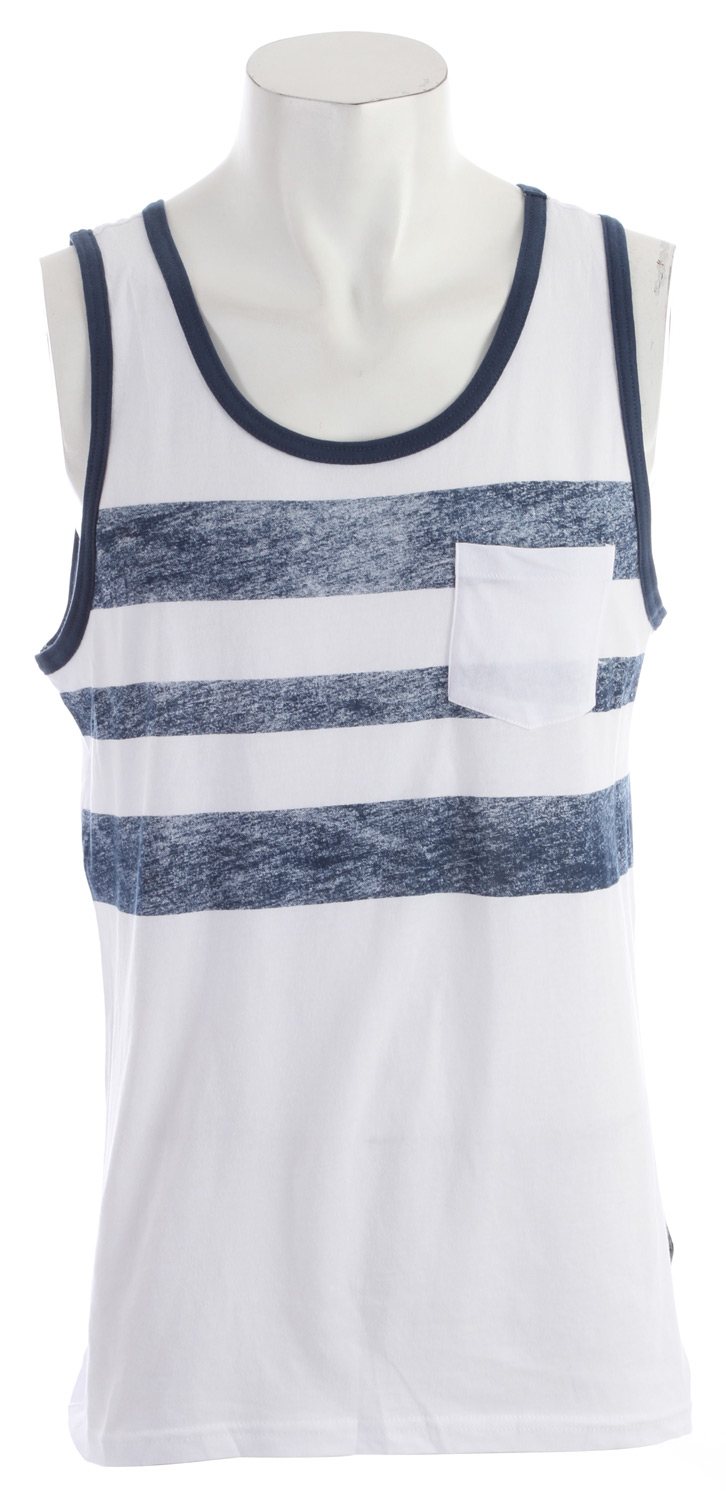 Surf Key Features of the Quiksilver Automate Tank: 52% cotton/48% polyester Jersey tank with contrast rib Assorted printed chest band and contrast pocket Corpo label at side seam - $21.95