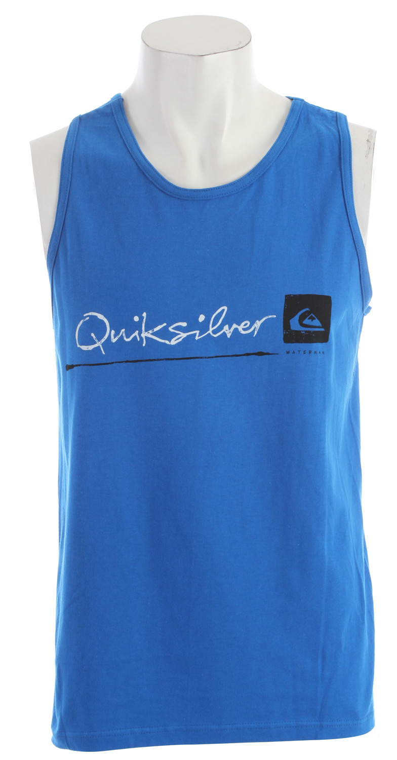 Surf Key Features of the Quiksilver Standard Tank: 22/1 100% ringspun combed cotton regular fit - $19.00