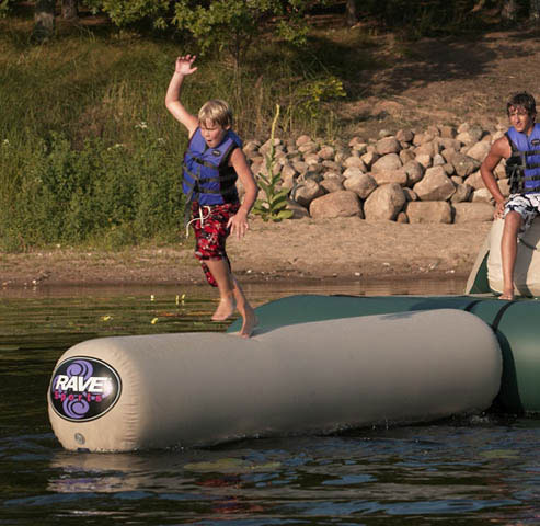 Fitness Expand your Aqua Jump with the Aqua Log to enhance your water entertainment. You can walk or run on the Aqua Log, but we don't think you'll make it to the end without a few spills into the water. But so what? You'll have a great time trying to prove us wrong - $499.99