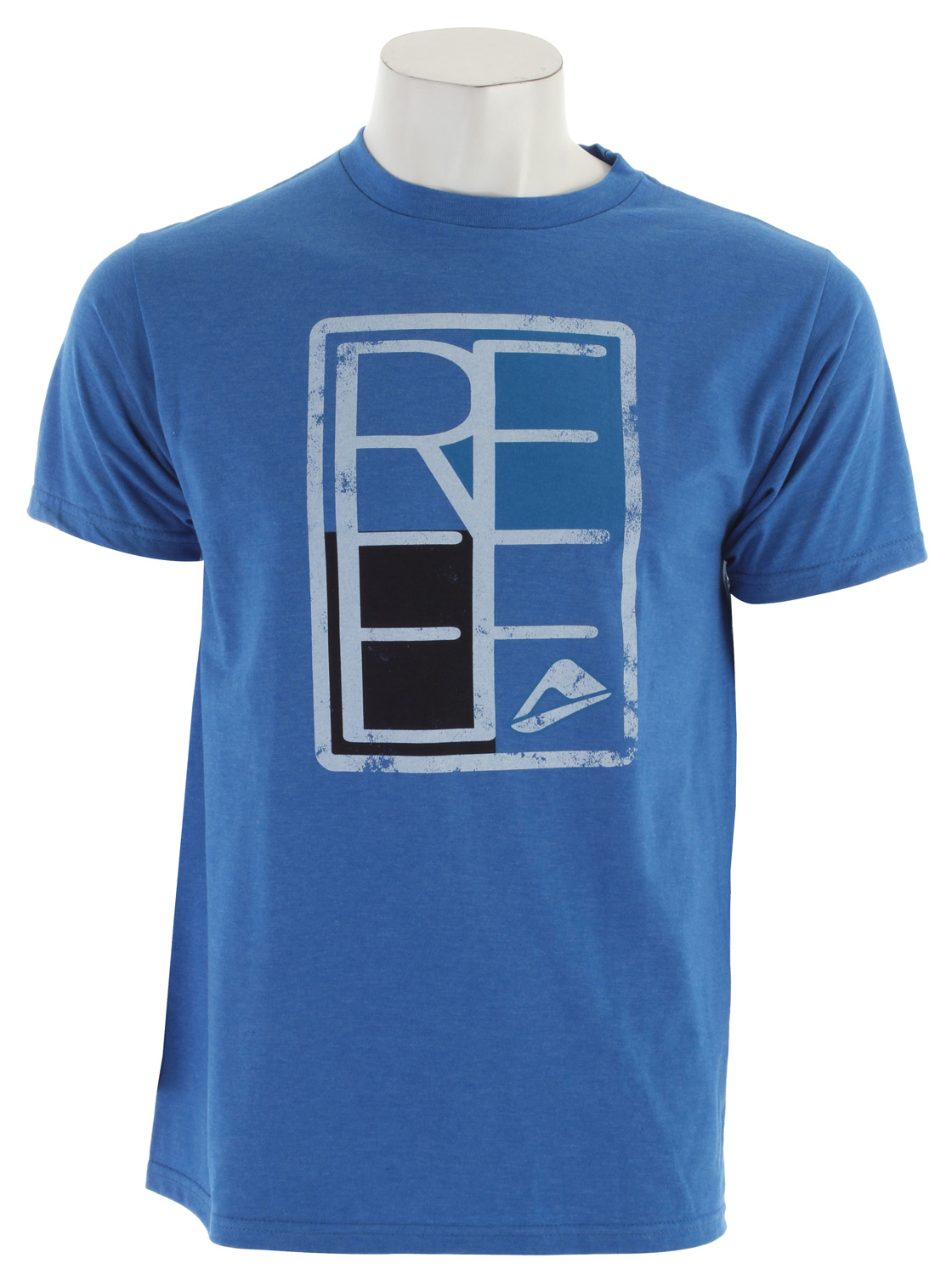 Surf Key Features of The Reef Rectangular T-Shirt: Slim Fit Crew Neck Short Sleeve 50/50 cotton polyester Center front screen print - $23.00