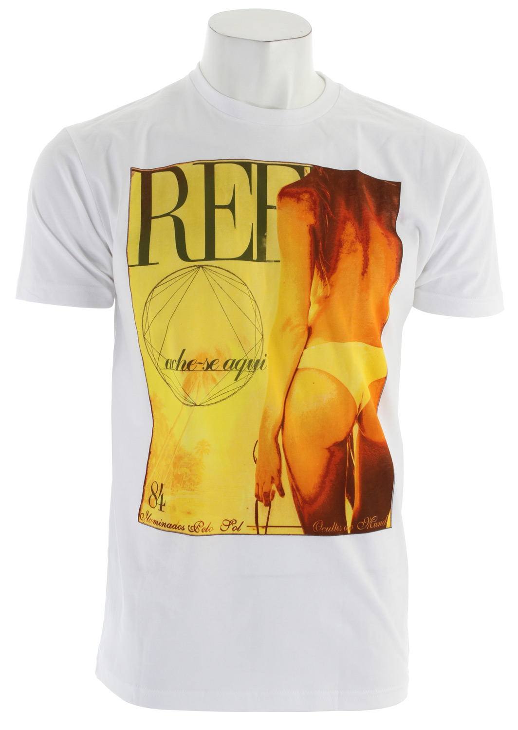 Surf Key Features of The Reef Vooguey T-Shirt: Slim Fit Crew Neck Short Sleeve 100% cotton Center front screen print - $15.95