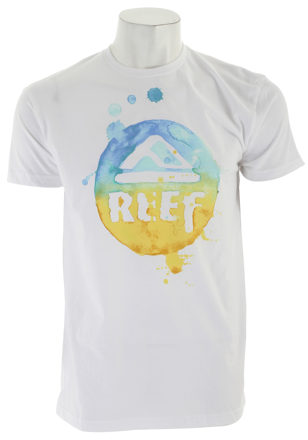 Surf Key Features of The Reef Circo Drip T-Shirt: Slim Fit Crew Neck Short Sleeve 100% cotton Center front screen print - $23.00