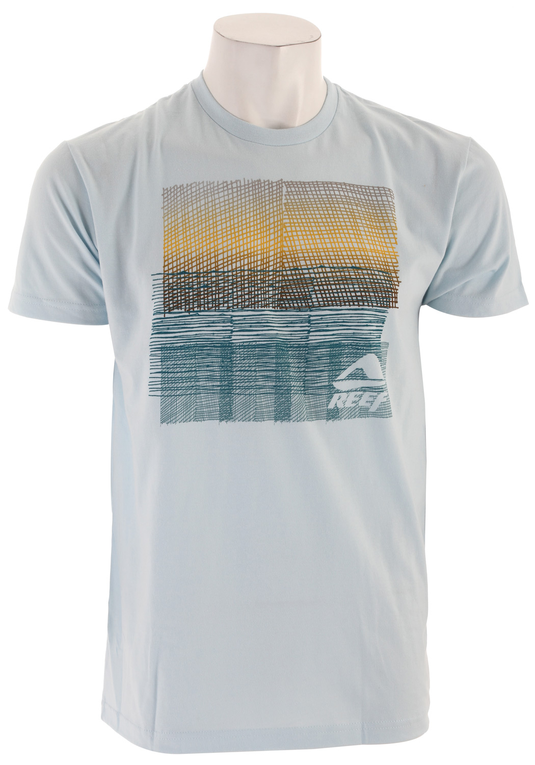 Surf Key Features of The Reef Textured T-Shirt: Slim Fit Crew Neck Short Sleeve 100% cotton Center front screen print - $13.95