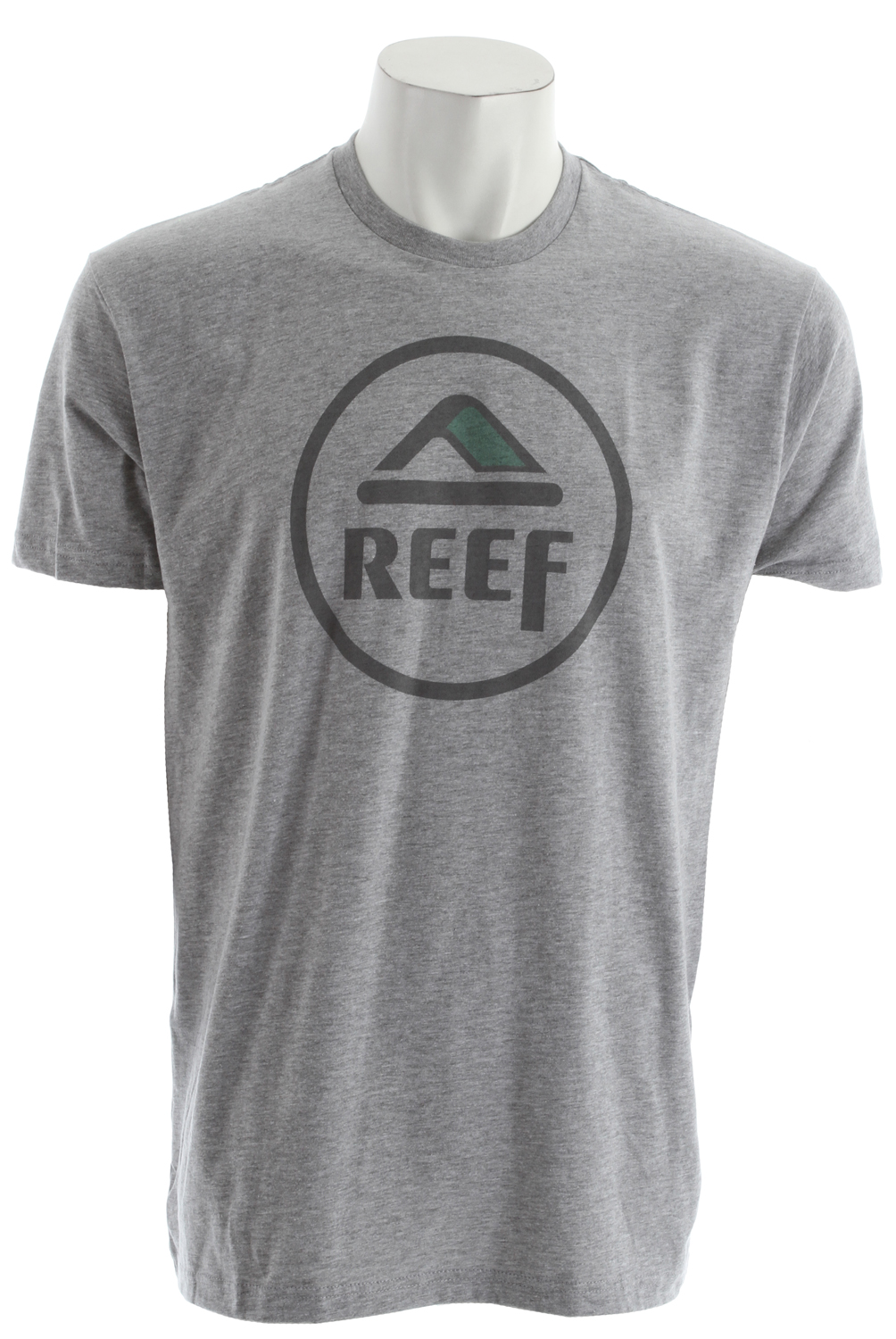 Surf Key Features of the Reef Full Circo T-Shirt: 90/10 Cotton polyester for heather gray colorway 100% Cotton for navy colorway Slim fit Center front screenprint - $23.00