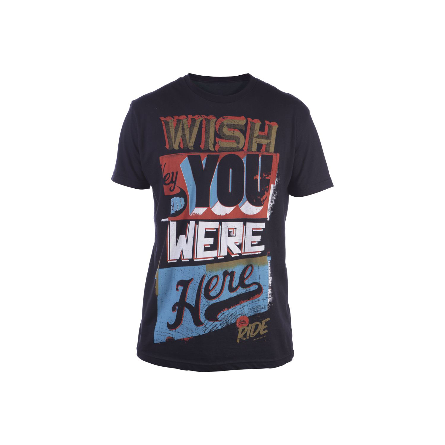 Key Features of The Ride Wish You Were Here T-Shirt: Slim Fit Crew Neck Short Sleeve 100% Cotton Short Sleeve Silkscreen - $22.95