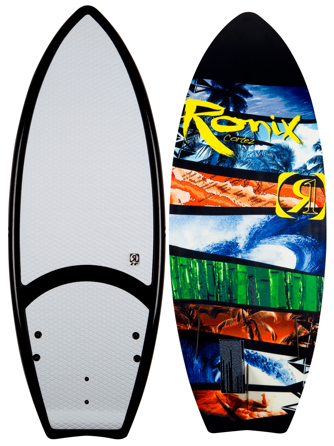"Surf New for this year, is a women's wakeboard constructed, durable yet still lightweight surfer from the originators of the first compression molded wake surfboard. A versatile subtle swallowtail design for toes on the nose stability, frontside airs off the lip performance and big cutbacks on the wake. The 4'8"" is perfect for female shredders looking at a performance deck on small-to-large size freshwater barrels. The fish shape tri-fin series delivers on the rail maneuverability with a speedy rocker line to keep a surfer tight in the line of a wake.Key Features of the Ronix Cortez Wakesurf Board: EVA top deck with built in tail wedge for more power into a turn Variable rail design - sharper bevel/rail in the tail for a quicker edge transfer and a mellower more stable bevel/rail blending to the front of the board for a floatier, more forgiving feel Krypto Cable - makes the sidewall the strongest part of the board - not the weakest, along with a torsionally stiffer board Mod Pour Foam - this demanding alternative core made from our exclusive blend of atoms Monocoque - a wrapped glass from the top to the bottom so the flash line is no longer the weak point of the board - but the strongest. 3 surf specific designed fins Oh yeah, designed by Herb - $263.95"