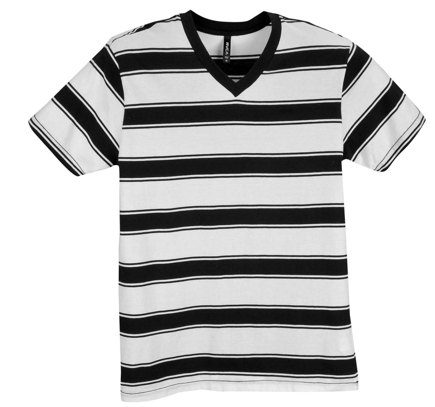 Surf Key Features of The RVCA Phill Up T-Shirt: Regular Fit Crew Neck Short Sleeve Cotton Jersey Yarn-Dyed Stripe Tank Solid Binding At Neckband And Armhole Opening RVCA Embroidery At Left Chest - $24.95
