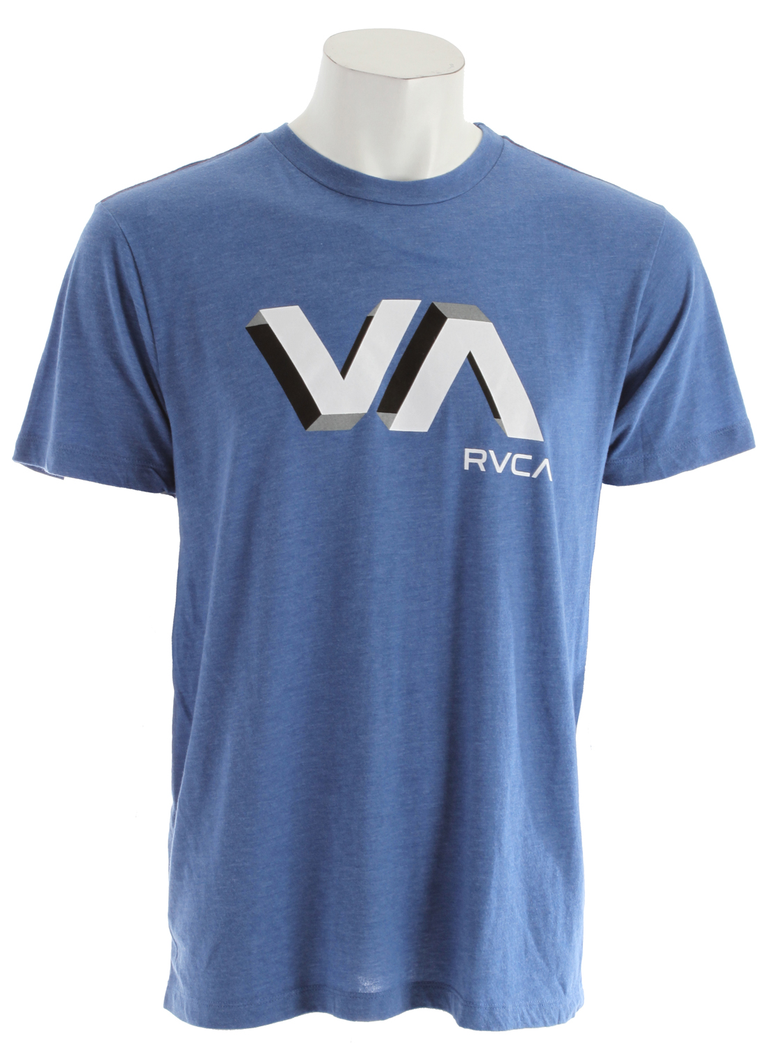 Key Features of the RVCA 3D VA T-Shirt: 50% polyester/50% cotton vintage dye slim fit tee Front print and screened inside neck - $27.00