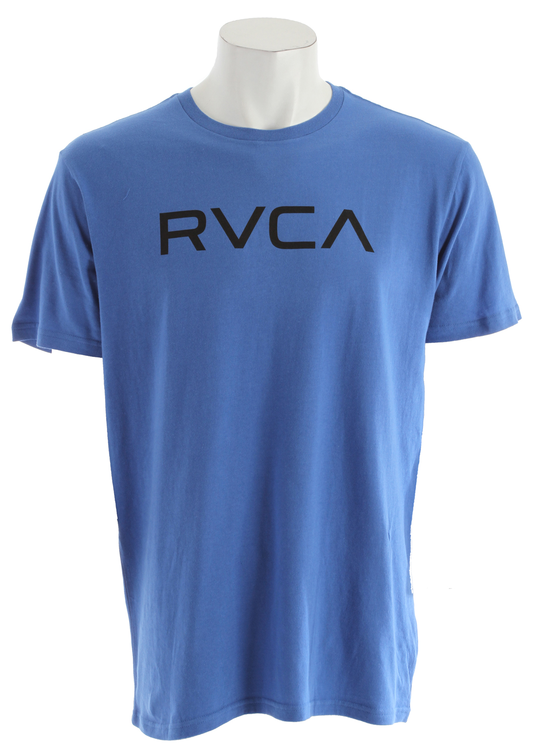 Sports Key Features of The RVCA Big RVCA Raglan Shirt White/Black: Regular Fit Crew Neck Raglan 30/1 100% cotton baseball raglan Front screenprint and screened inside neck - $14.95