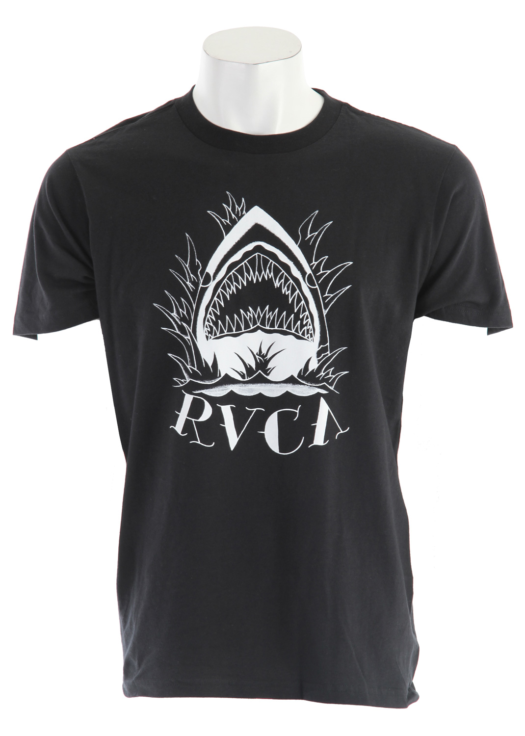 Key Features of the RVCA Shark Face T-Shirt: RVCA's short sleeve 100% combed cotton tee - $25.95