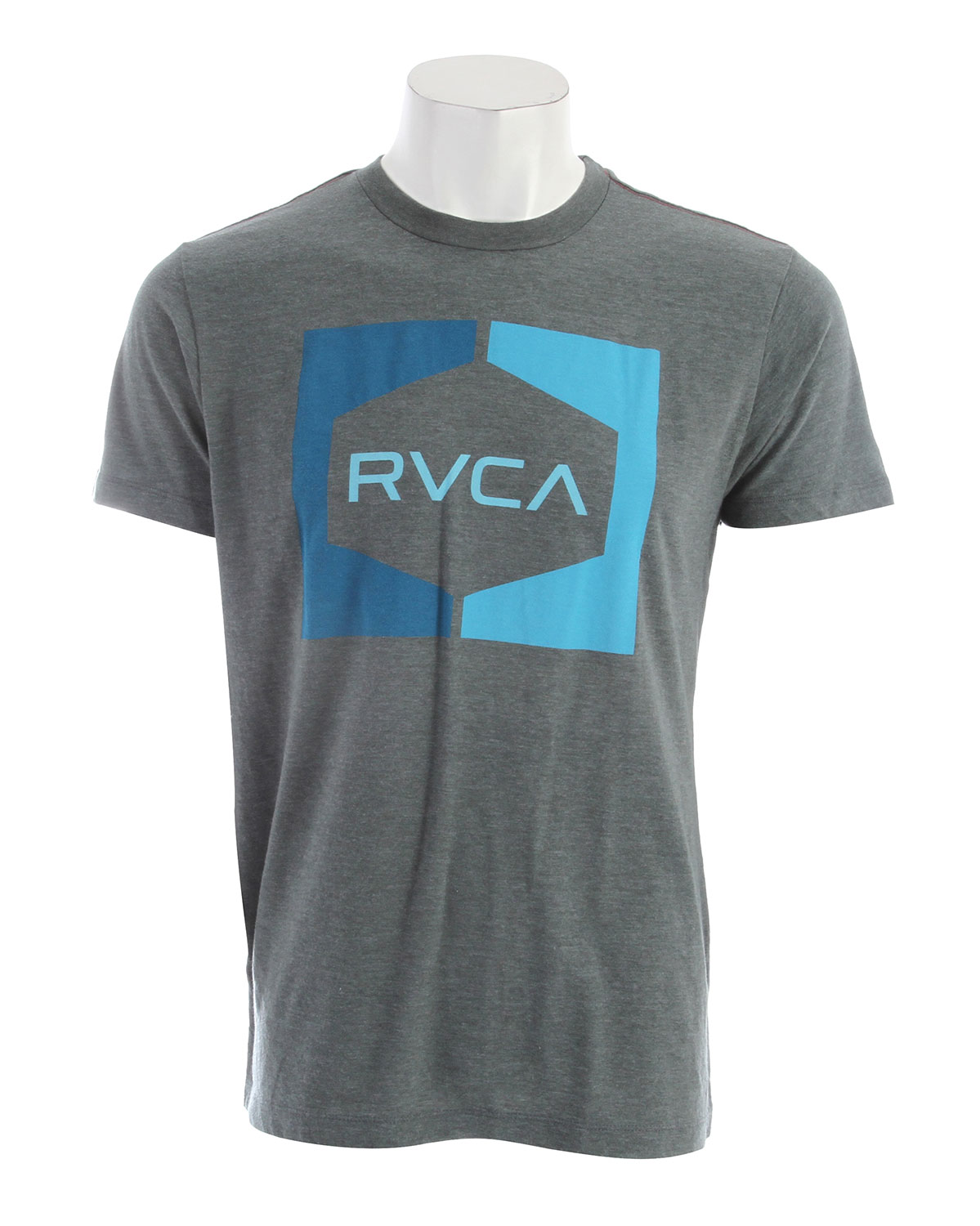 Key Features of the RVCA Invert Hex Vintage Dye T-Shirt: 55% Polyester/45% Cotton Vintage Dye Slim Fit tee with front print and screened inside neck - $27.00