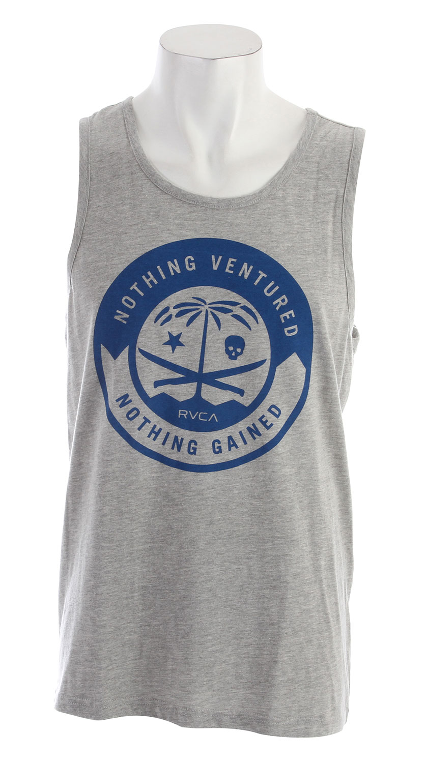 Surf Key Features of the RVCA RVCA Korps Standard Tank: BLK, NVY, RED, WHT: 100% Cotton ATH: 90% Cotton/10% Polyester Tank Top Front screen with screened inside neck - $22.00