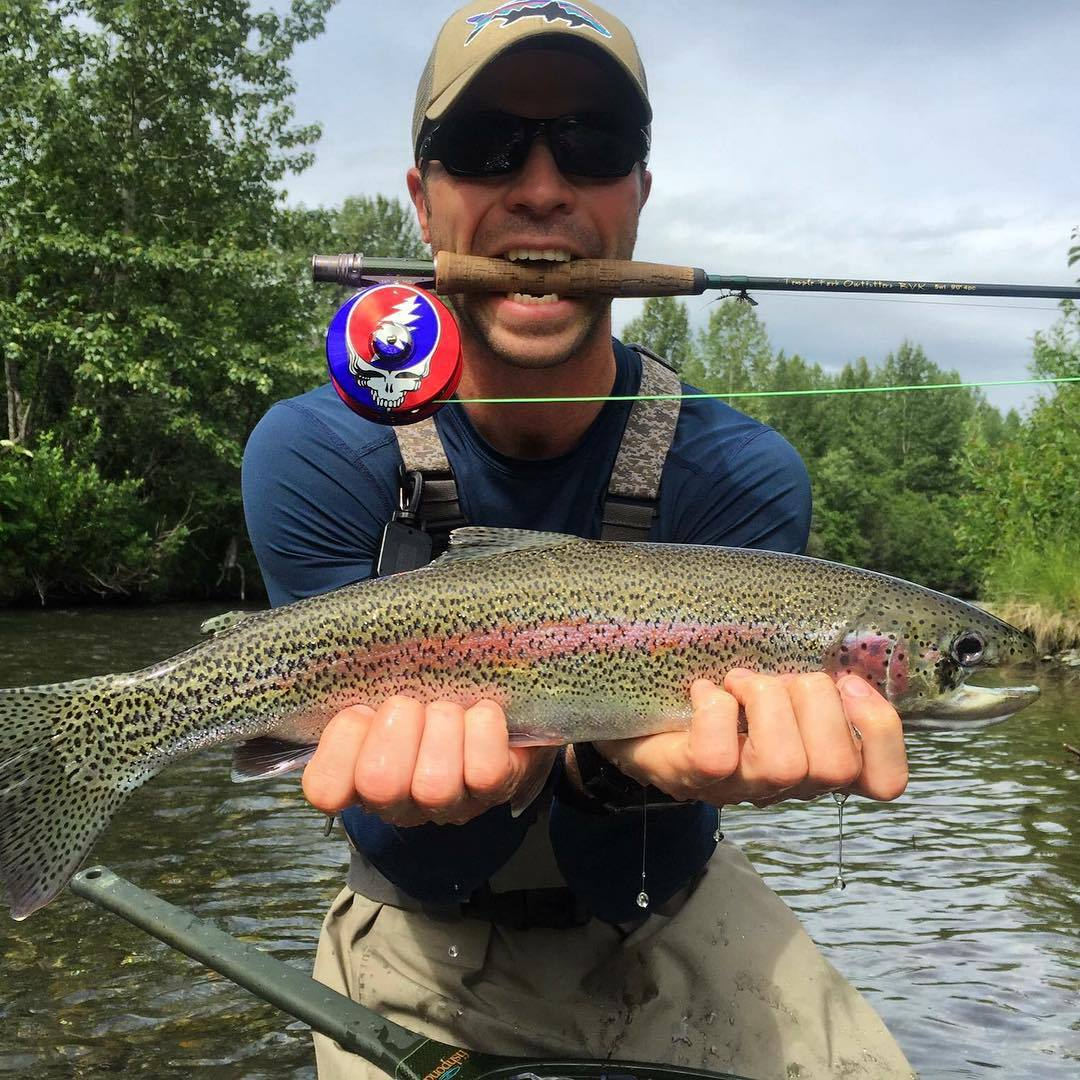 Fish of the week andrew shaw with a one eyed rainbow cau for One eyed fish