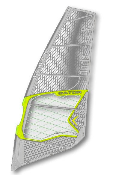 Surf From the lake to Ho'okipa, the Gator sail range covers all types of windsurfing conditions. The core principles are maneuverability, durability, simplicity and performance. The same applied design fundamentals, adjusted to suit every sail size, enable riders to take the same approach to their windsurfing, whether it's mast-high waves or flat water. For 2011 the panel layout has been optimized for key design objectives; durability, vision and color higher in the sail. All sizes now feature HD Dyneema X-ply in the clew and foot panels for bombproof durability. Battens have been reduced from 6 to 5 in freemove sizes 5.5-6.0, to improve maneuverability and decrease weight. The wind range has been increased due to a more connected leech, providing lower end power for early planing and a unique twist pattern where the whole leech works as one cohesive unit to depower the sail. The GATOR will deliver in any condition from 8 knots on your local lake to 20 foot surf. Look no further for a sail range that does it all.Key Features of the Severne Gator Windsurfing Sail: Full Technical X-Ply Construction For Durability Aramid Torsion Frame - A Kevlar Perimeter For Maximum Strength Ks Optic X-Ply Window Panel For No Compromise Visibility And Durability Hd Dyneema X-Ply Foot Panel For Bombproof Durability Seamless Foot Construction With Pro-Tect Hidden Seam Load Patches Arc - Aramid Radial Clew (Wave And Freemove Sizes) Distributes The Load Evenly Into The Sail Body Through Bias Aligned Kevlar Tpr Kevlar Anti-Abrasion Head Patch Arc Clew Seamless Head Panel Seamless Foot Construction Sleeve Pop Up Molded Tack Fairing Molded Soft Edge Aramid Torsion Frame 3 & 4 Roller Tack Pulley Dual Clew Positions Batten Abrasion Protector Balanced Batten Pockets Boom Height Reference Dropped Clew Stabilizer Panel - $543.95