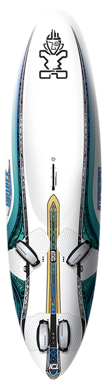 "Wake Introducing six all-new Futuras: advanced freeriders with maximum wind range, early planing power and the highest top-end speed. Flip the coin and the Futuras are also the most stable boards thanks to their extra width and remain accessible to improving riders thanks to their inboard strap positions and comfortable deck domes. A high performance racing machine on one side, and an easy stable board on the other - impossible? ""Stable at low speeds, the Futura 122 has a double whammy of explosive acceleration and early planing. What a pleasure to ride high on the water with just the tip of the tail and the fin in the water. We really have minimal friction and you can go super fast without having the legs of a skier. Its rivals had better be scared because this is one very complete board, and as a bonus, with a higher fun factor than them. A reference."" Planchemag Feb-Mar 2010 ""A great freeride board with performance that can hold its own on the race course, in the right hands. It is fast, user friendly, manoeuvrable and exciting, what more can you ask for!"" Windsurf magazine April 2010 Futura Feature 1: the Futuras are designed to have the same width-to-volume ratio as modern wide-style slalom boards. This means that they are wide (= extra stable) and thin (= control and responsive). Compared to classic freeriders, the Futuras are around 15% thinner. Futura Feature 2: big deck domes. This means that the deck shape is comfortable for all footstrap positions, whether you're using the powerful outboard settings or the more accessible inside strap settings. Futura Feature 3: super wide wind range. Because the boards are wide and thin, the board can be paired with extra big sails and extra big fins: maximum bottom end performance. At the same time, the low volume and thin profile also makes the board work with smaller sails and smaller fins. The result: a wind range classic freeriders can't compete with. Futura Feature 4: carve jibe response. Extra thin also means a very quick and responsive carve jibe. The Futuras turn fast, powerful and with an incisive bite. Looking to improve your jibes? Not a problem: the Futuras extra low speed stability means that it's easy to finish off a jibe, whether you plane out or not. Futura Feature 5: a wide sweet spot. Classic freeriders tend to need to be perfectly powered up with a perfectly sized sail. The Futuras have a wider sweet spot: if you ride slightly underpowered or overpowered, using a smaller sail or a larger sail or windsurfing in a patchy wind area, the Futuras always deliver peak performance. New for 2011 Developed in parallel with the 2011 iSonics, the new Futura 4G benefitted from the same upgrades: Harder rail edges in the tail With harder rails, the board releases from the water cleaner and quicker: this increases top speed, enables quicker acceleration in gusts, improves earlier planing and improves the board's ability to maintain top speed in lulls. By reducing the tuck-under edge angle, the planing surface became wider and shorter than previously (higher aspect ratio planing surface): this improves bottom-end efficiency. With a harder release edge, the Futuras also gain more jibing power: the rails have the ability to store more energy as the racer enters a jibe that, a fraction of a second later, releases into more exit-speed. Very Deep Deck Concaves By using very deep deck concaves, the level of control is maximized. The pivot point between sail and board is kept as low as possible. The centre of gravity of the board is also lowered further to minimize undesired swing weight. These very deep deck concaves also break the aerodynamic suction effect that often lifts the nose out of control in high winds. Last but not least, the gap between the sail and deck is eliminated and the mast track can be moved back to improve top end speed without compromising control. Note the very deep deck concaves require the boom to be set about 2cm higher than your normal setting.Key Features of the Starboard Futura Technora Windsurf Board 101L: The Futura TechnoraTM uses a Starboard original technology where the PVC sandwich core is replaced with natural Australian plantation pine wood. Technora? boards are light weight, crisp and comfortable with rigid flex. Futuras are wide (= extra stable) and thin (=control and responsive). Compared to classic freeriders, the Futuras are around 15% thinner Extra slim shapes: for a lower centre of gravity, more control, more responsiveness and a wider wind range Decks are designed to provide full comfort in all strap positions: inboard or outboard Very Deep Deck Concaves: more control, lower CG, improved aerodynamics iSonic rockerlines and thicknesses give the Futuras their freeslalom performance and it speed across a wide sweet spot New Drake Venom fins, designed by C3. Amazing glide, unlimited acceleration, easier jibing. Multiple insert positions offer tuning options for intermediate/advanced/expert riders. Volume : 101 Length : 240 Width : 65.5 Tail width : 42.8 Thickness : 11.2 Bottom shape (from tail to nose) : Flat Vee to Double Concave Number of footstrap rows : 3 Fin : Drake C3 Venom 38 Finbox : Tuttle Recommended fin range : 30-40 Recommended sail range : 4.5-7.5 Weight (Technora) : 7.5 - $1,154.95"