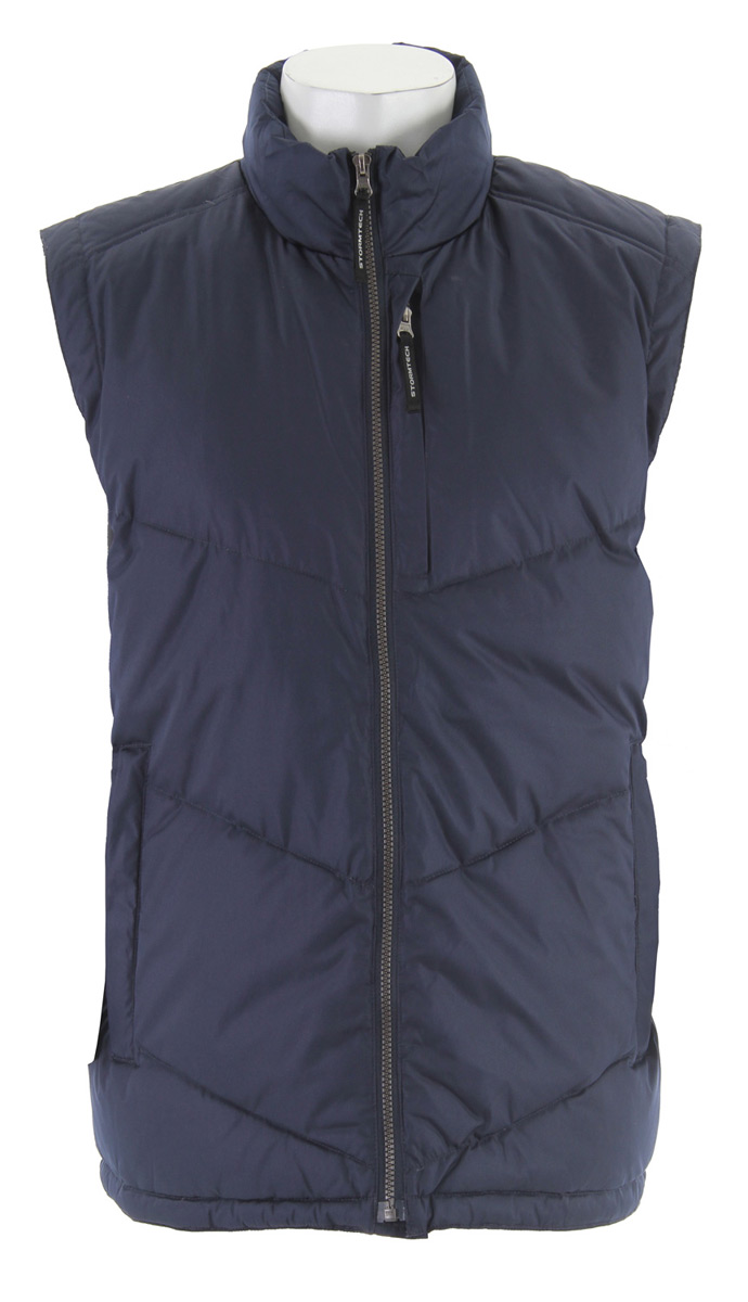 Entertainment The Nordic Down Vest just might be the missing link to your closet. Dress it up with boots and leggings or layer it for an extra bump in the warmth department. Key Features for the Stormtech Nordic Down-Fill Vest: STORMTECH DWR water-resistant Quilted Down-Filled Body Zippered Chest Pocket provides Embroidery Access Adjustable Drawcord at Hem Interior Cellphone/Document Pocket Quilted Contour Stitching - $47.95