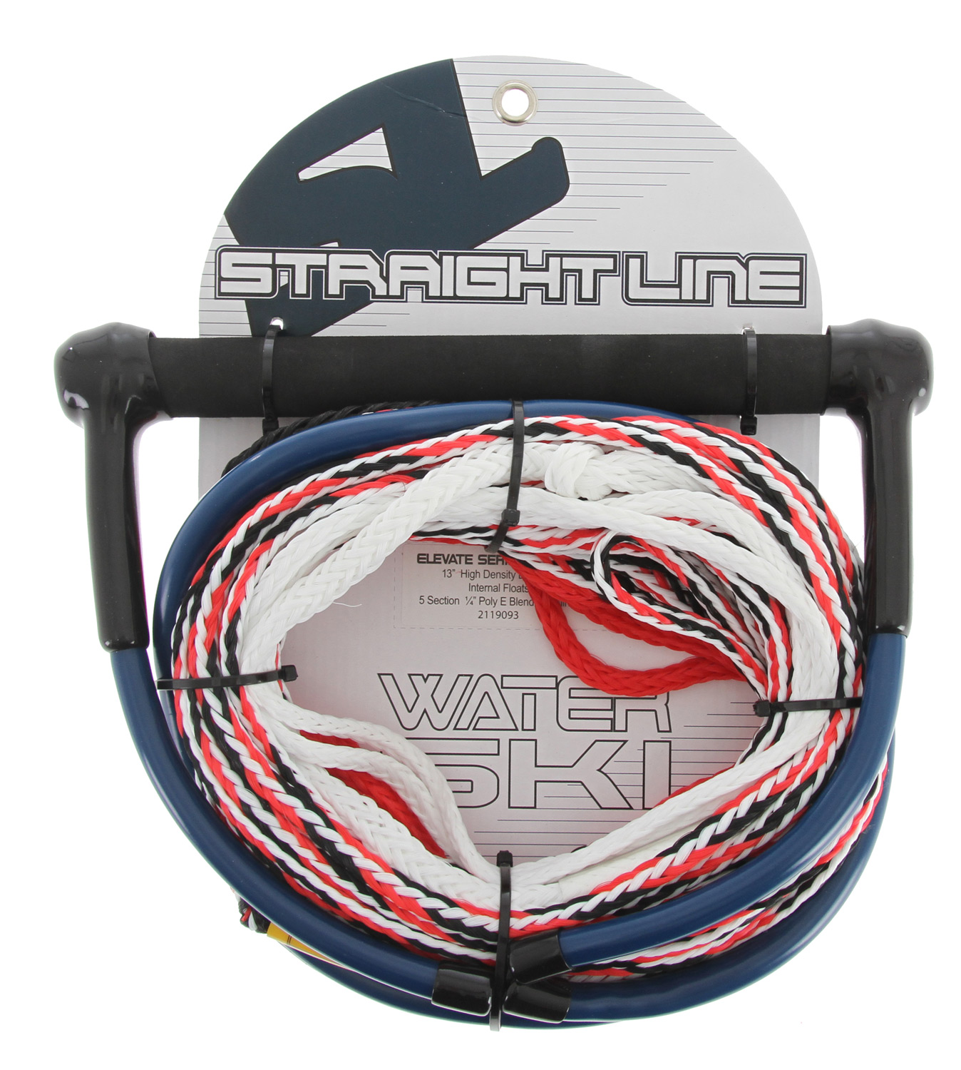 "Ski Designed for recreational thru Intermediate skiers that are looking for a competitively priced ski rope that is backed by the trusted reputation of Straight Line quality. All SL Rec combos use a smoothly sanded EVA bar for a comfortable grip and a u"" Polypropylene mainline. - $29.95"