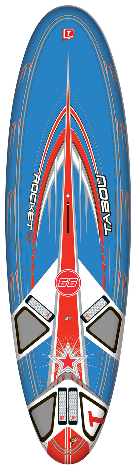 Wake Get the best shapes from the other Rocket versions and scale down the construction technology to give you a windsurfing board that works perfectly for the entry-level rider.Key Features of the Tabou Rocket GT Windsurfing Board 115: GT construction: The same original shapes just in a more affordable construction. Heavier and less reactive, the GT suits the budget minded that wants a great board Newly designed 115 and 135- more planing and better top end speed The NEW smoothed Rocker Line gives quicker acceleration. New outlines combined with a small winger on the tail give unmatched top end and life to these new designs Increased double concave entry in the nose area to prevent hitting chop and smooth out the ride Integrated heel cushions Wood construction - $1,269.95