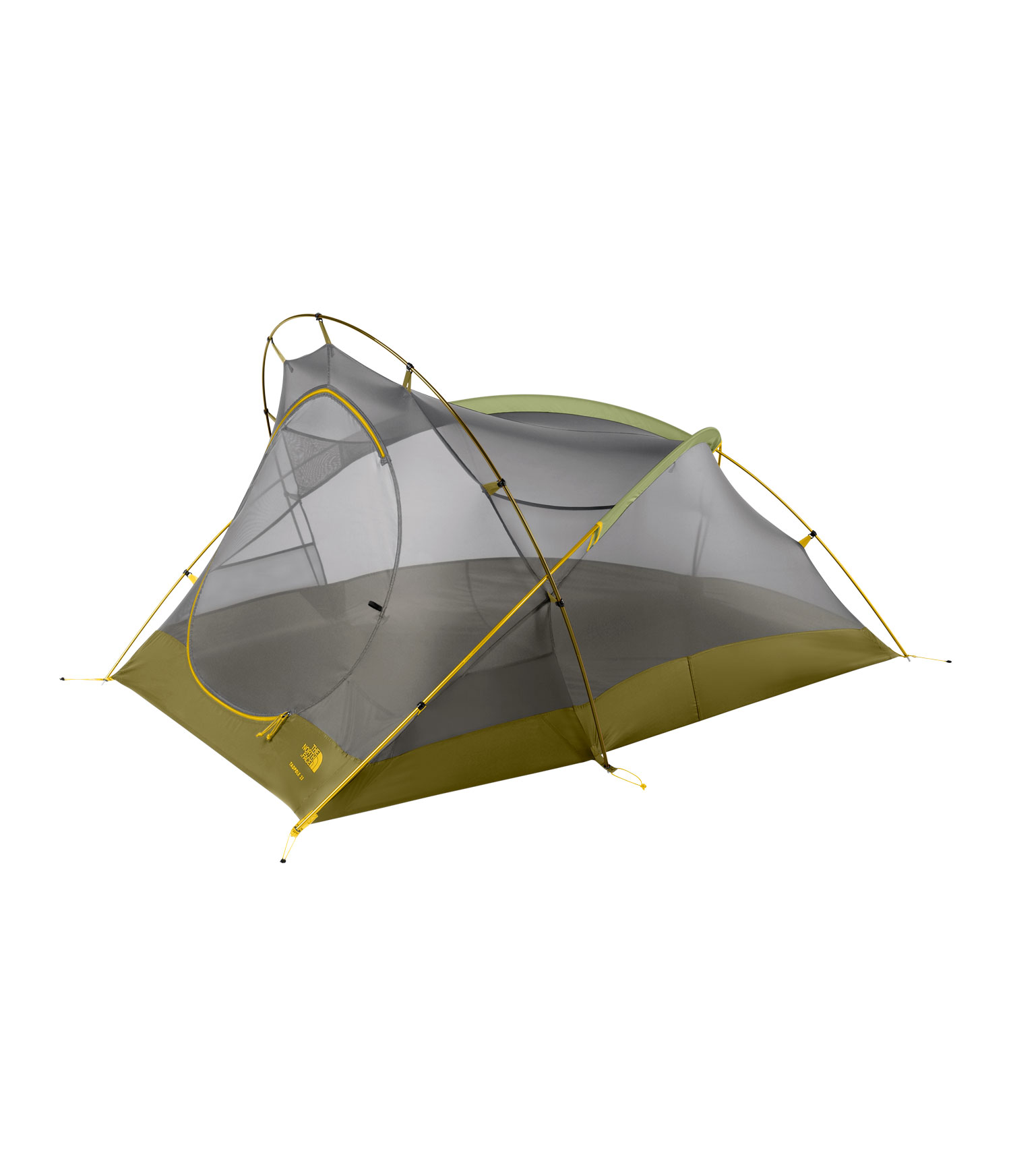 "Camp and Hike A venerable classic, as light and user-friendly as ever, but with improved ventilation.Key Features of The North Face Tadpole 23 Bx 2 Person Tent Bamboo Green: Lightweight, easy to use clip system Comprehensive color-coded pitch Fully taped nylon bucket floor Convenient overhead pockets Abundant gear loops Compatible with triangle gear loft Durable steel stakes Capacity: 2 Trail weight: 4lbs 10oz Floor area: 26.2 ft2 Vestibule area: 9 ft2 Fabric: Fly: 75D 190T polyester taffeta, 2.3 oz/yd2, 1500mm PU coating, water-resistant finish/Canopy: 40D nylon ""no-see-um"" mesh/Floor: 70D190T nylon taffeta, 2.4 oz/yd2 , 5,000mm PU coating, water-resistant finish - $154.95"