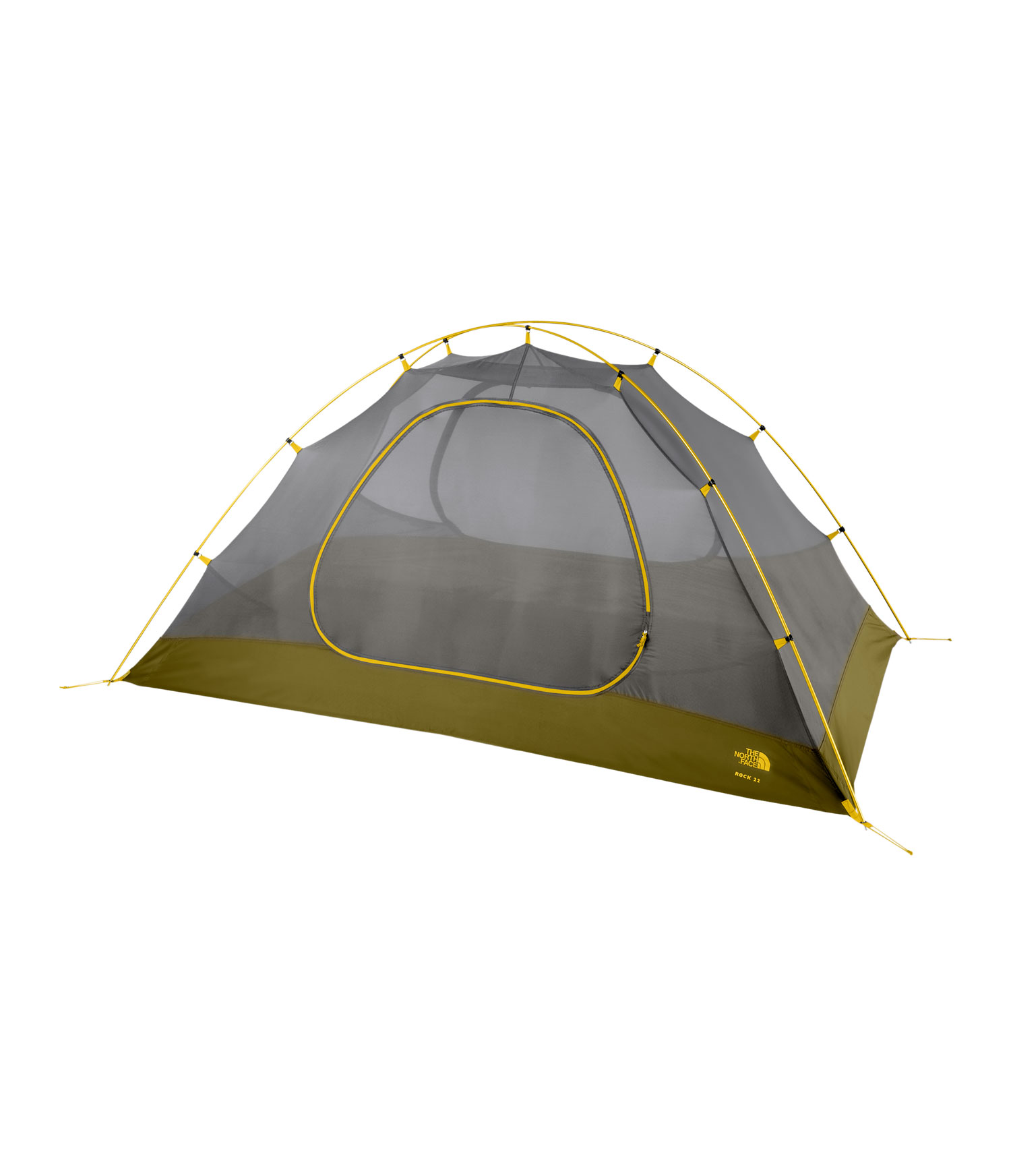 "Camp and Hike An updated, user-friendly X tent design, with increased vestibule size and more ventilation.Key Features of The North Face Rock 32 Bx 3 Person Tent Bamboo Green: Lightweight, easy to use clip system Comprehensive color-coded pitch Double door with two large vestibules Fully taped nylon bucket floor Convenient overhead pockets Abundant gear loops Innovative built in gear loft Durable steel stakes Capacity: 2 Trail weight: 5lbs 3oz Floor area: 33.6 ft2 Vestibule area: 4.7 ft2 Fabric: Fly: 75D 190T polyester taffeta, 2.3 oz/yd2, 1500mm PU coating, water-resistant finish/Canopy: 40D nylon ""no-see-um"" mesh/Floor: 70D190T nylon taffeta, 2.4 oz/yd2 , 5,000mm PU coating, water-resistant finish - $155.95"