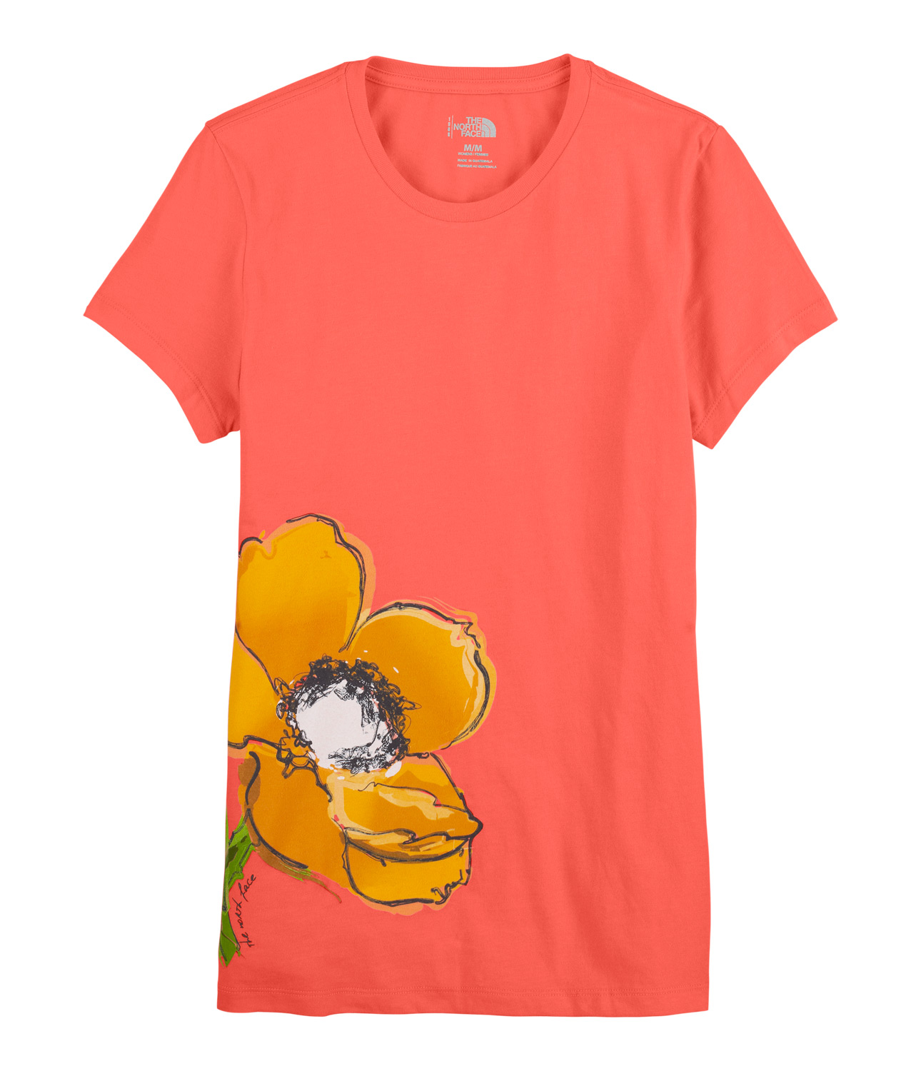 New short-sleeve tee made from soft cotton fabric for comfort at the crag or around town. Colorful flower in a water color painted effect at lower front. Slight rib at collar.Key Features of The North Face Painted Flower T-Shirt: Comfortable, lightweight, easy-care fabric 1x1 rib on collar Graphic in water-based print with water color painted effect - $9.95